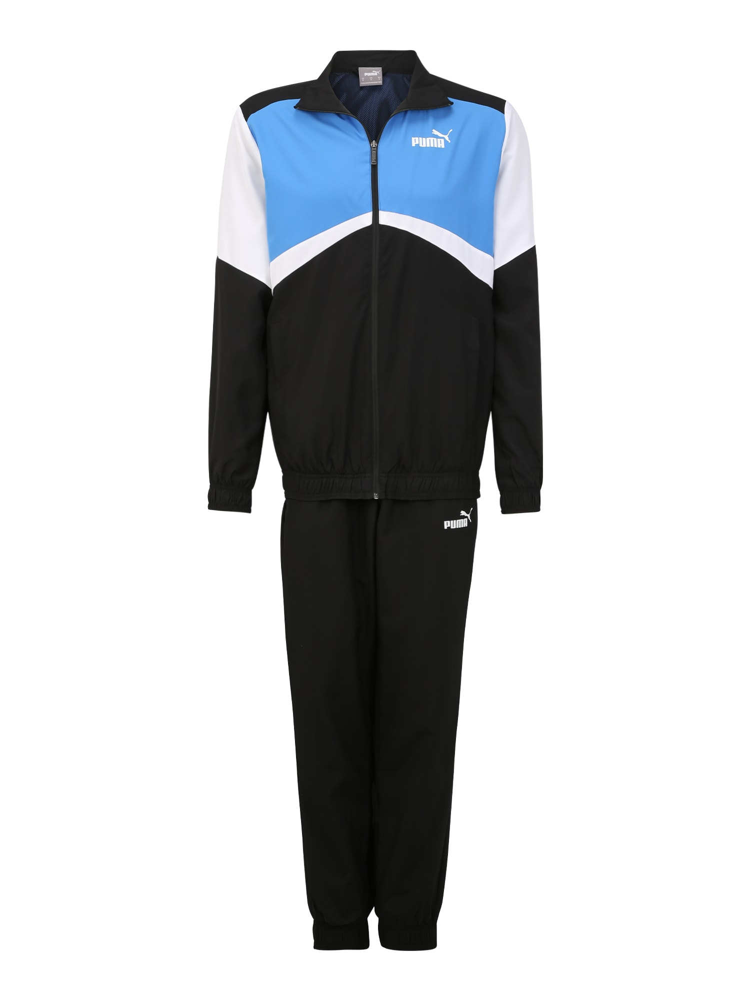 PUMA Sportinis kostiumas 'CB Retro Suit Woven cl' balta / juoda / mėlyna