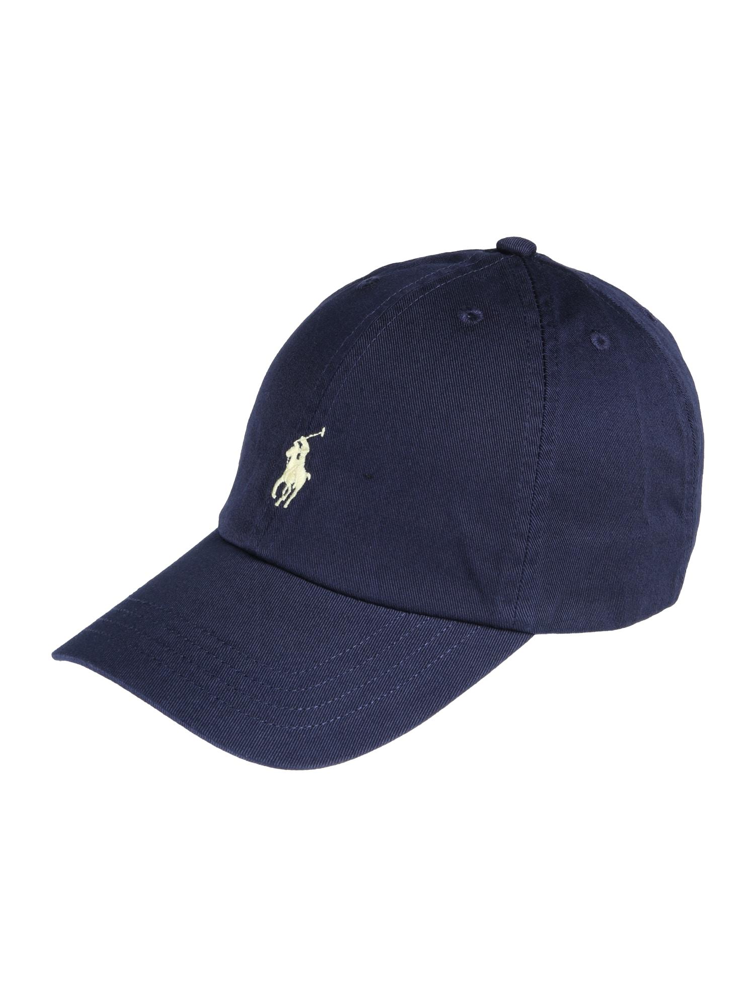 POLO RALPH LAUREN Megzta kepurė tamsiai mėlyna
