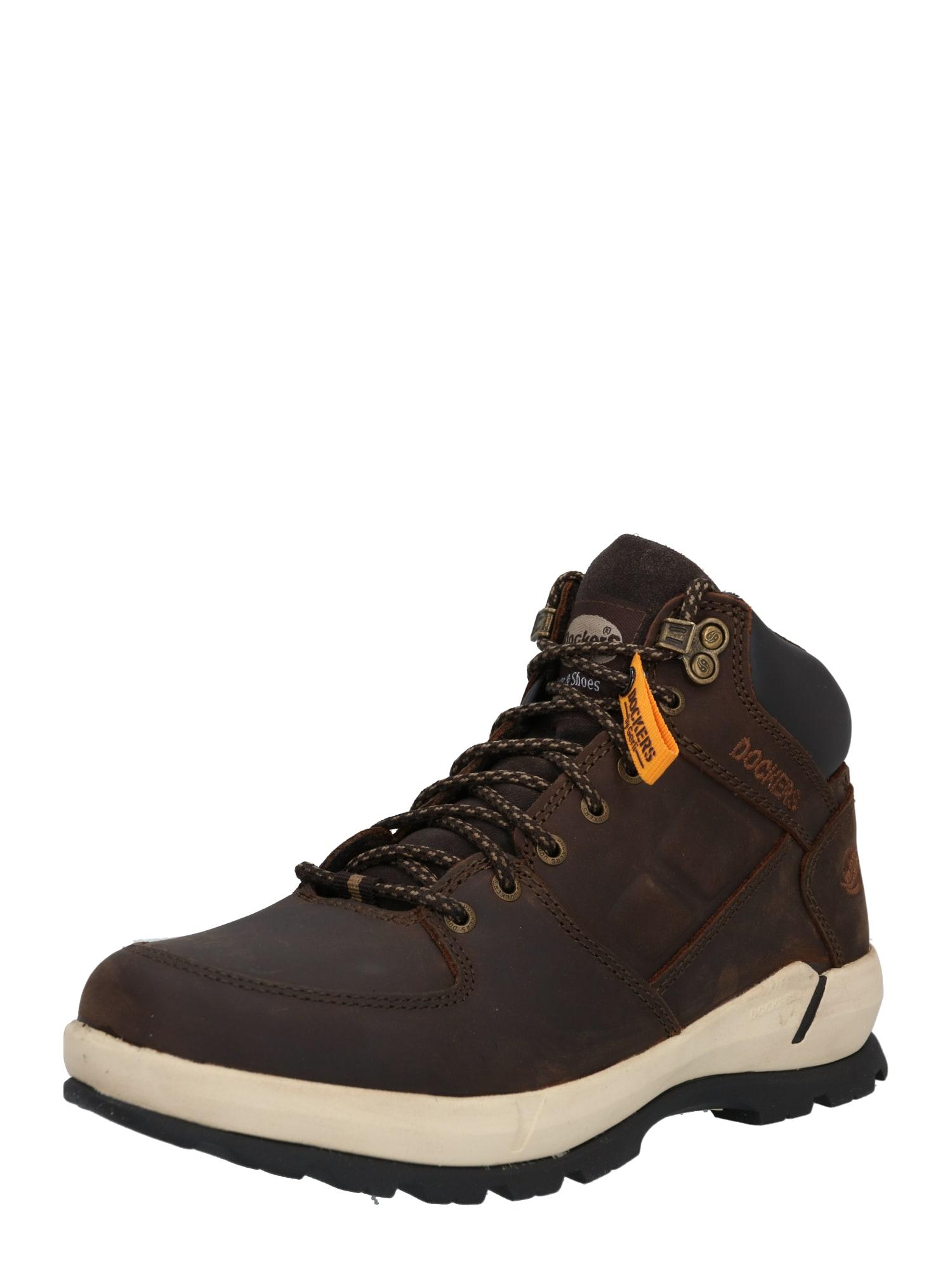 Dockers by Gerli Auliniai batai su raišteliais smėlio / tamsiai ruda