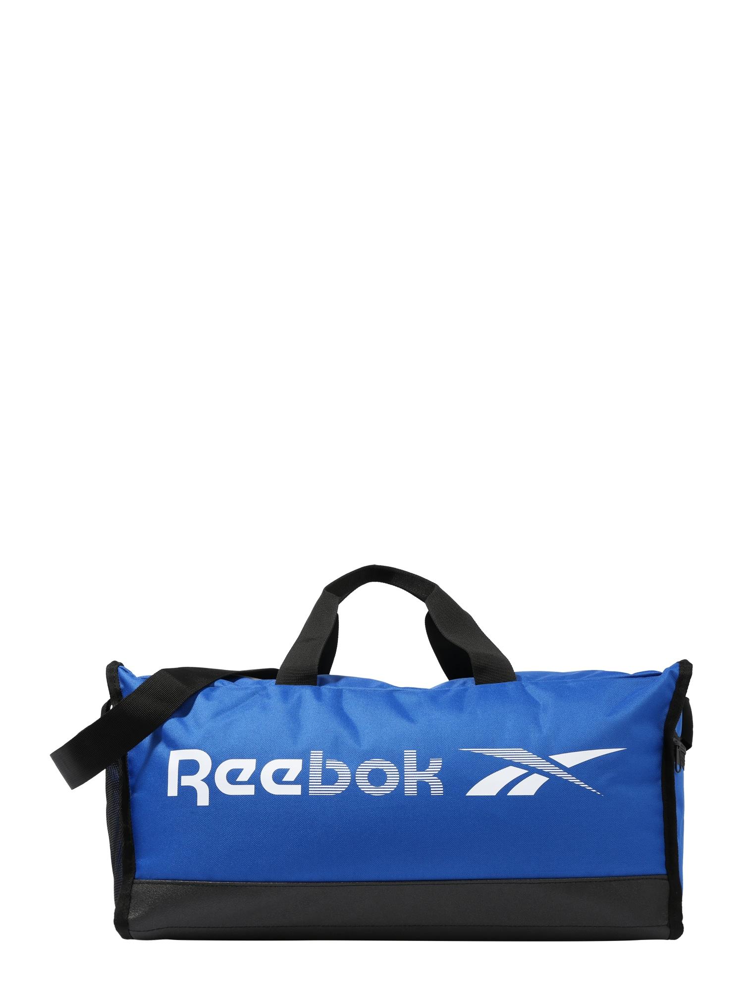 REEBOK Športová taška  modré / biela / čierna