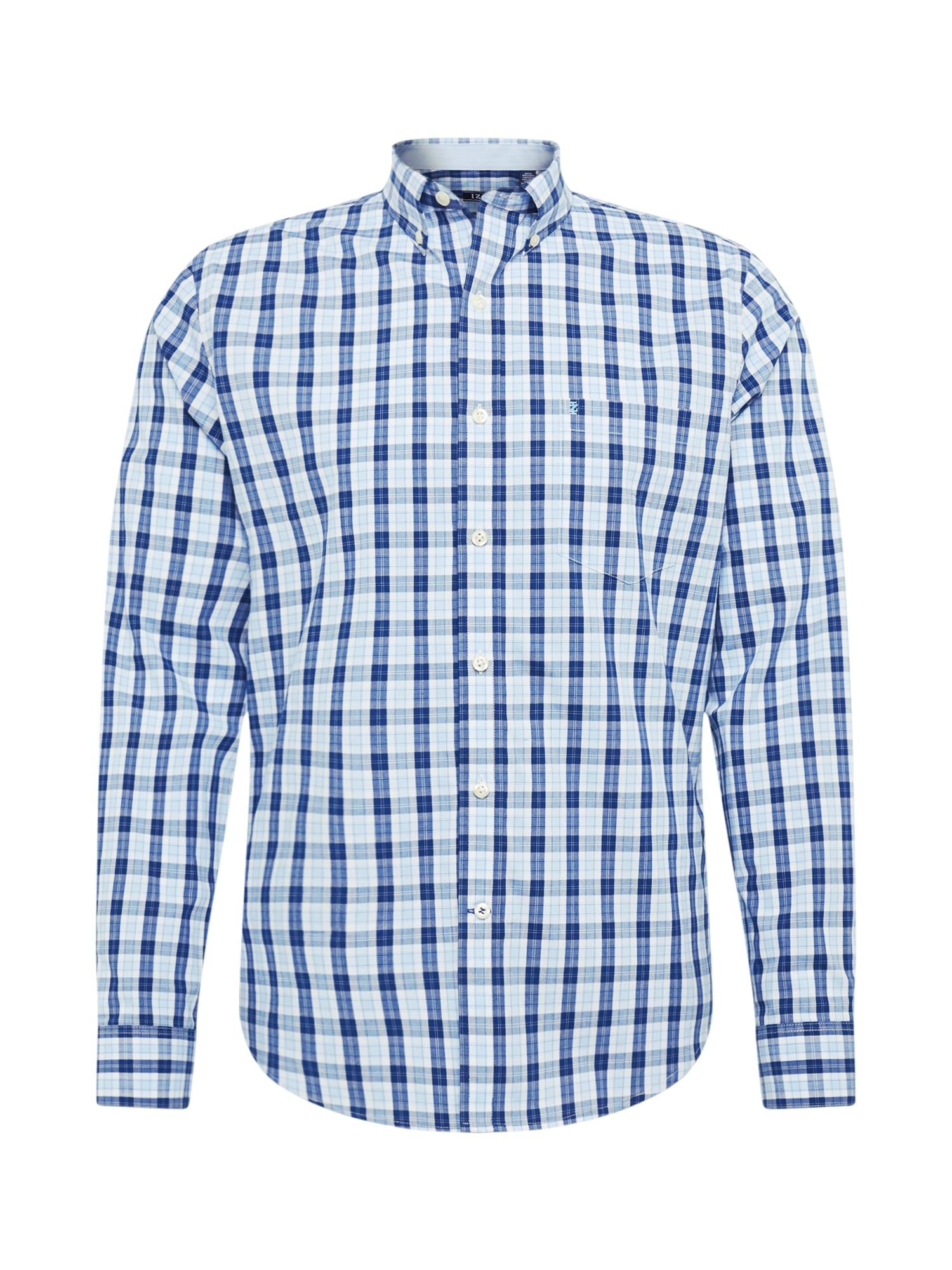 IZOD Košeľa 'POPLIN'  biela / modré