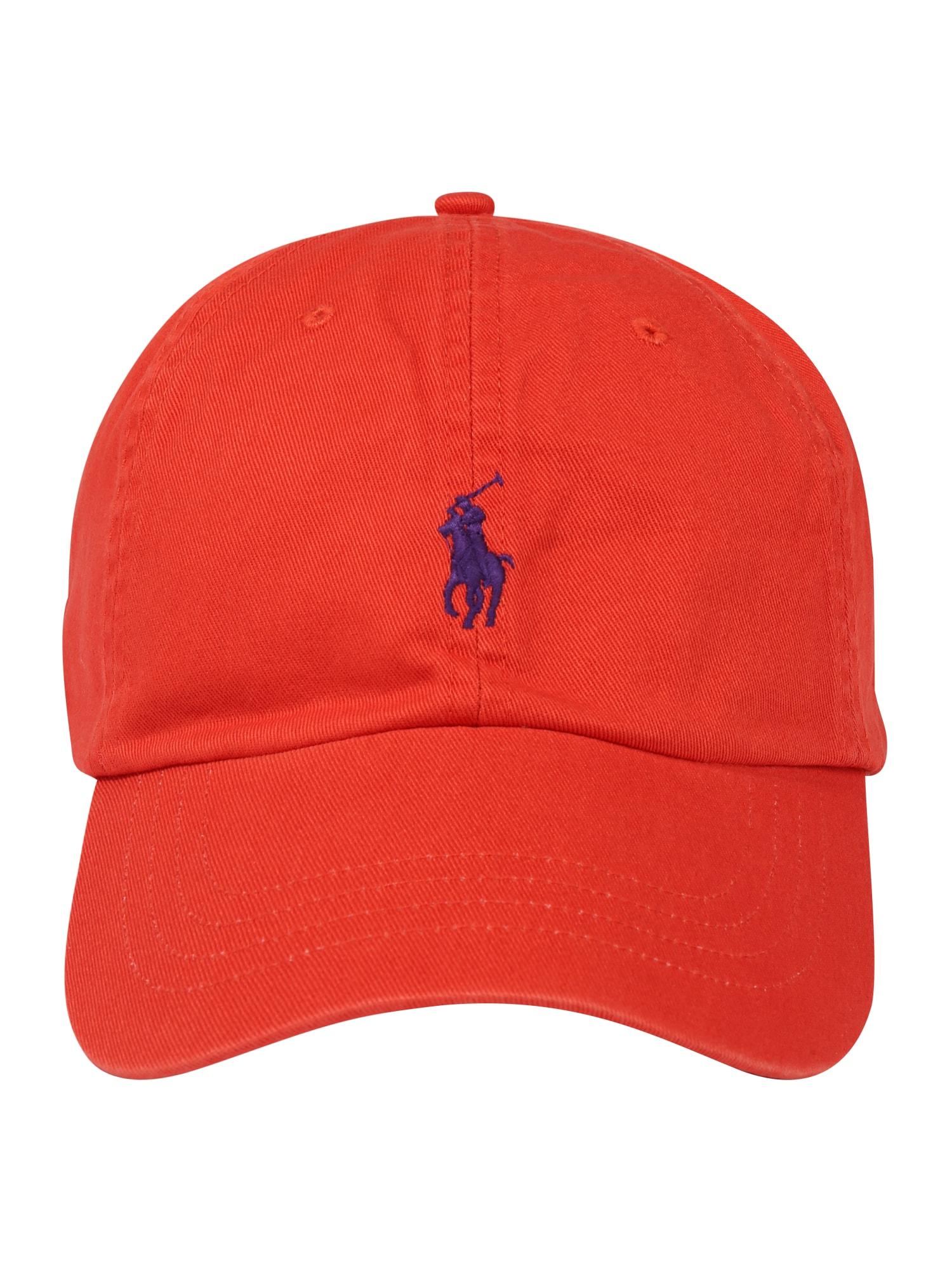 POLO RALPH LAUREN Športová šiltovka  oranžovo červená