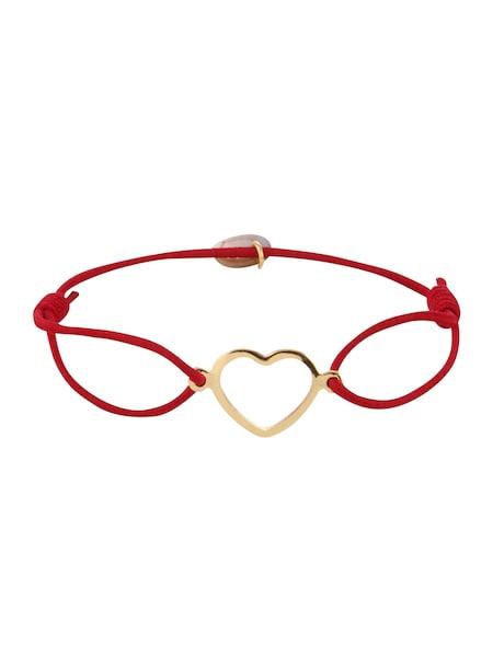 Armbaender für Frauen - Lua Accessories Armband 'True Love' gold bordeaux  - Onlineshop ABOUT YOU
