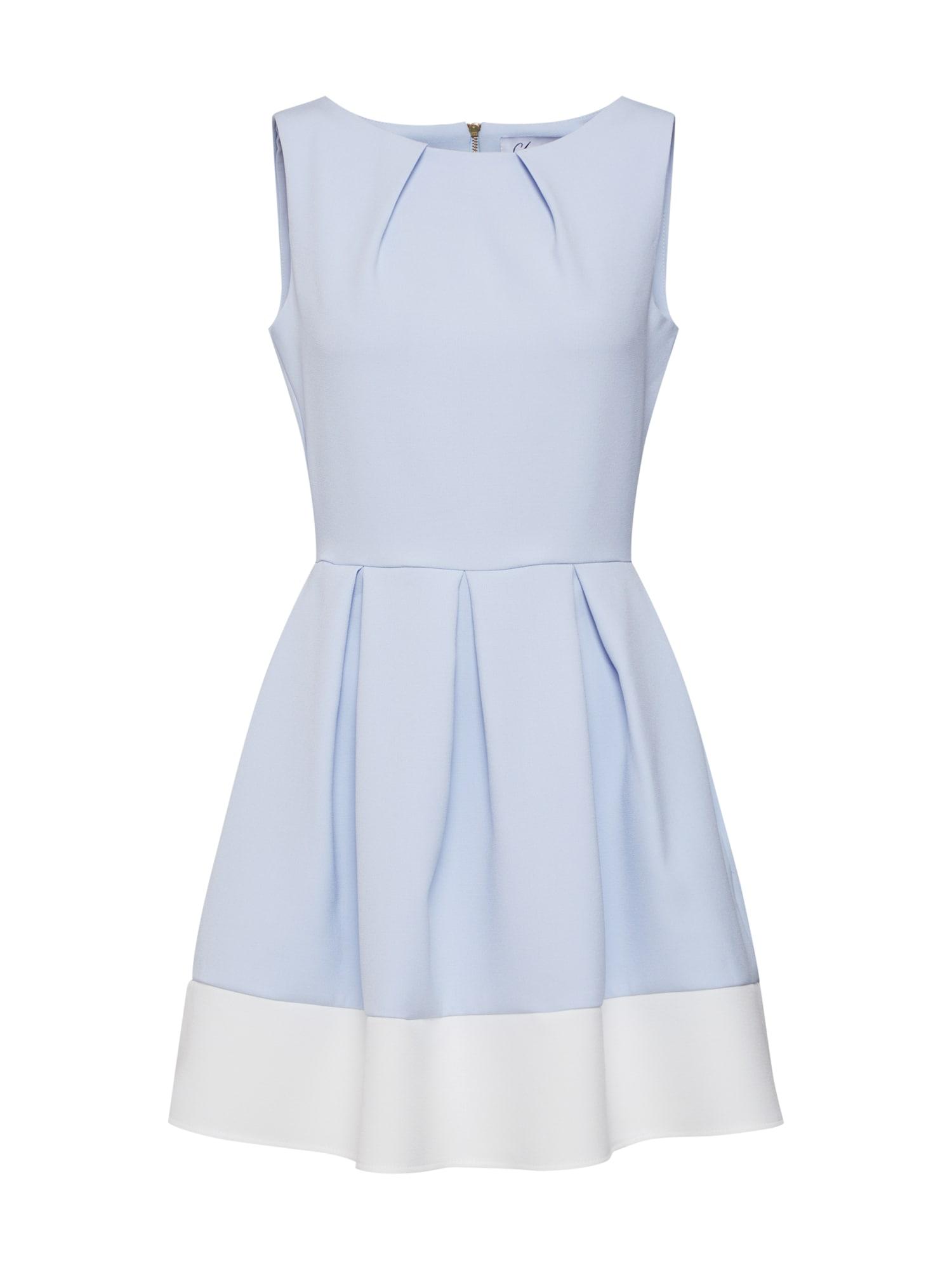 Closet London Trumpa kokteilinė suknelė mėlyna dūmų spalva / balkšva