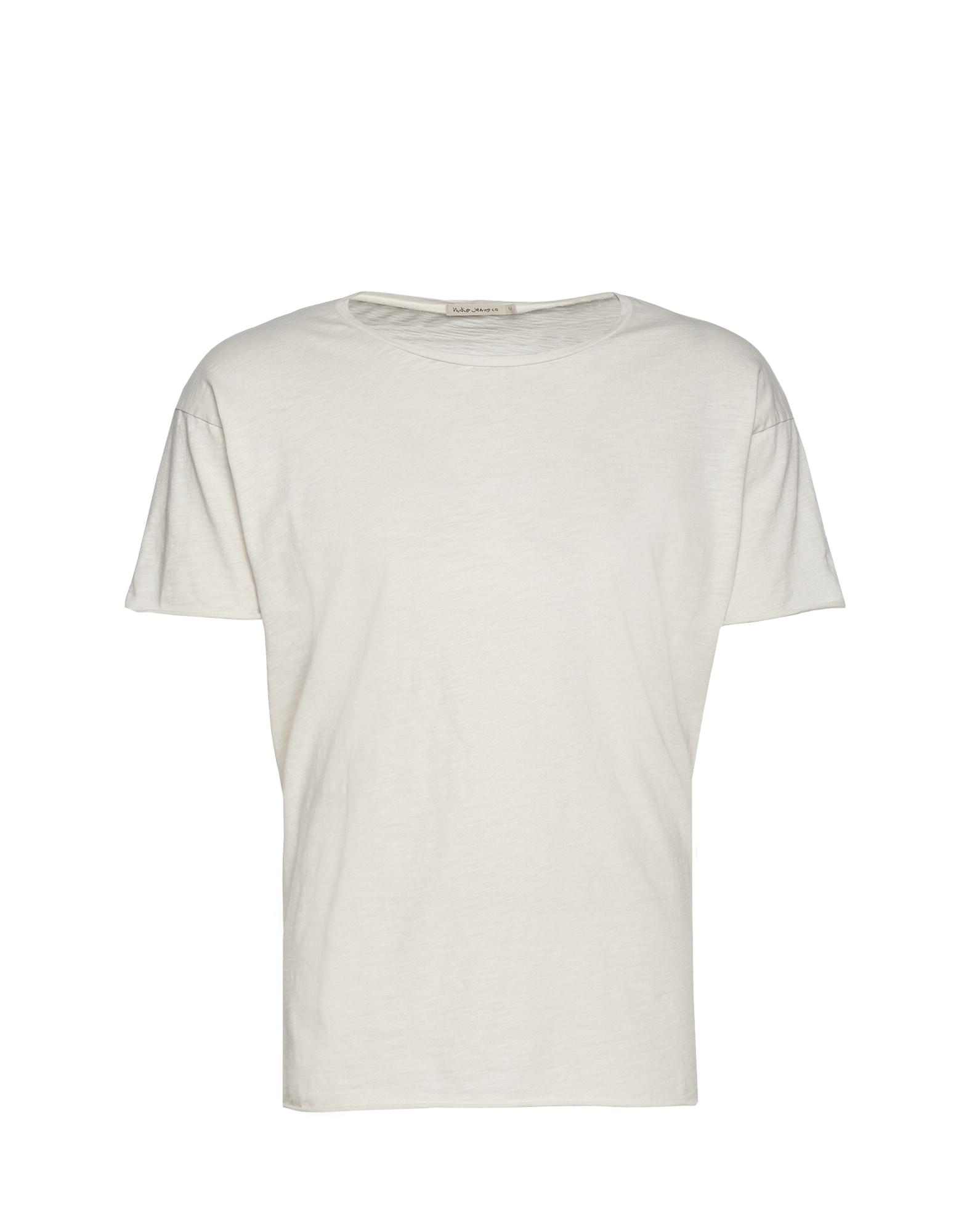 Nudie Jeans Co Marškinėliai 'Roger Slub' balkšva