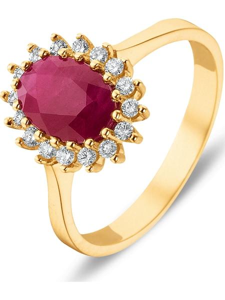 Ringe - Ring › Christ › goldgelb rubinrot  - Onlineshop ABOUT YOU