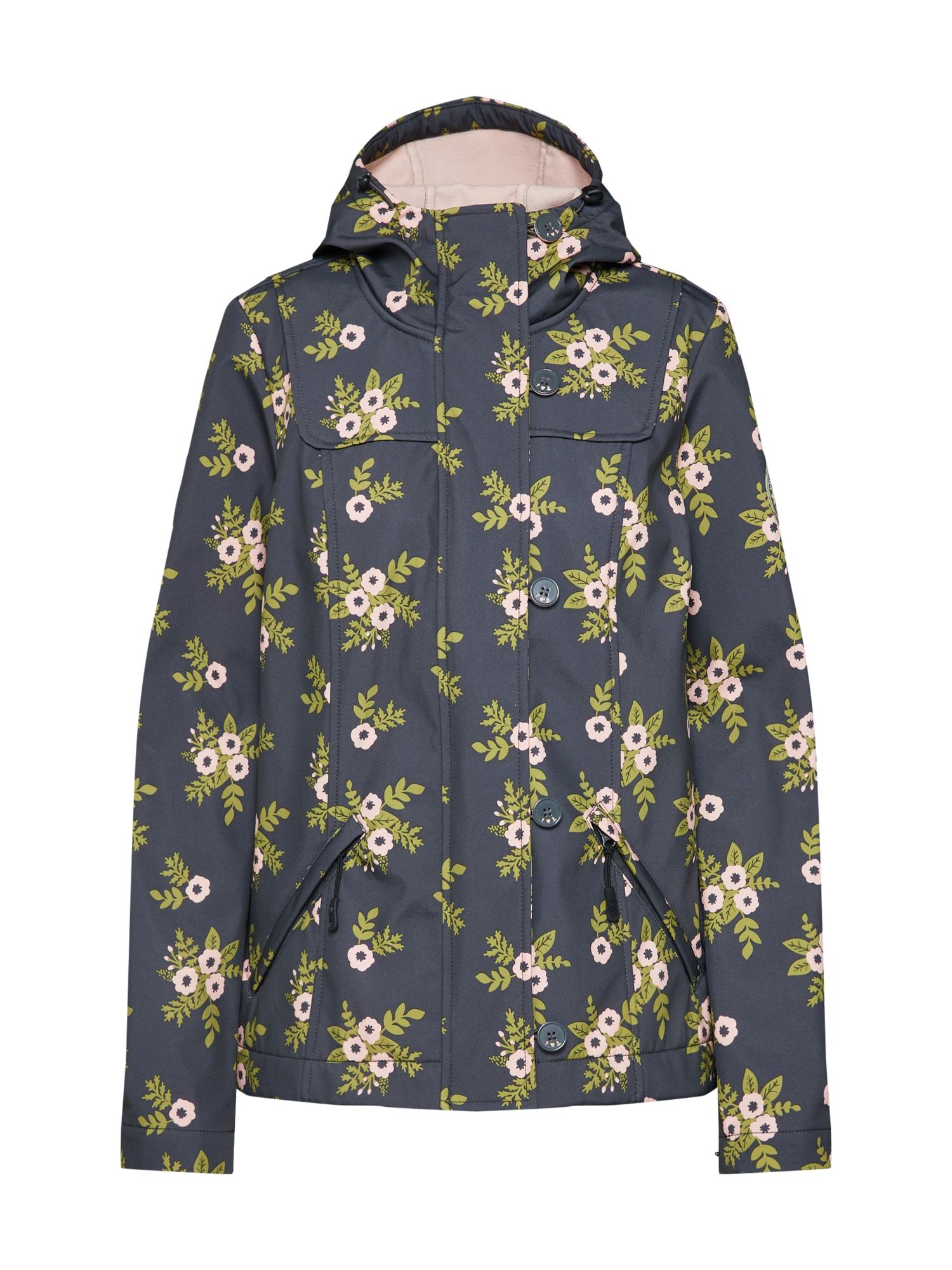 Přechodná bunda wild weather petite antracitová zelená růžová Blutsgeschwister