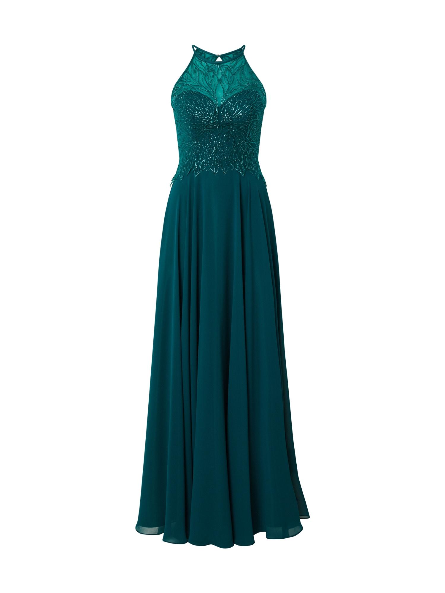LUXUAR Vakarinė suknelė smaragdinė spalva