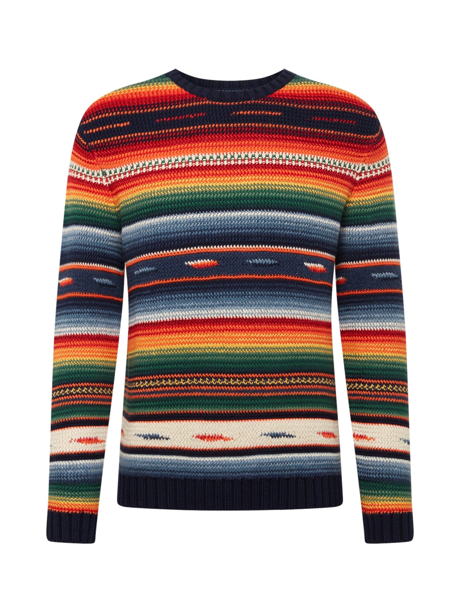 POLO RALPH LAUREN Sveter 'LS CN PO-LONG SLEEVE-SWEATER'  zmiešané farby