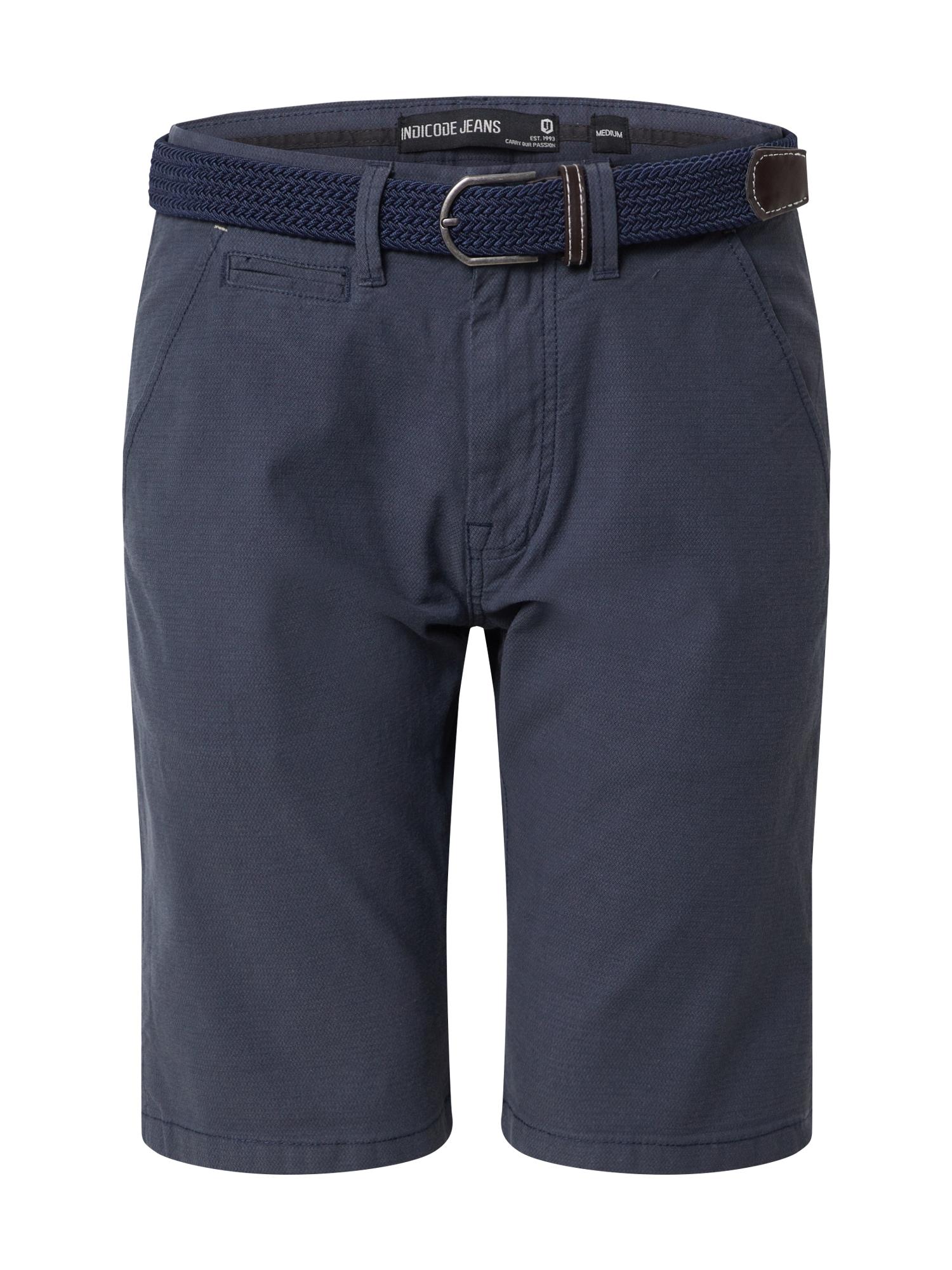 INDICODE JEANS Chino stiliaus kelnės 'Dignum' tamsiai mėlyna