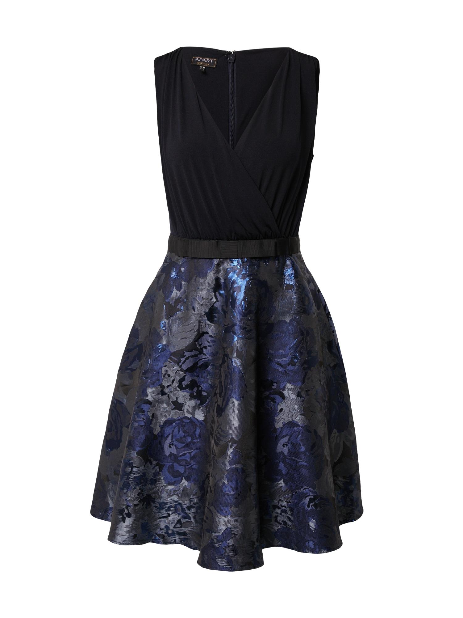 APART Kokteilinė suknelė juoda / mėlyna