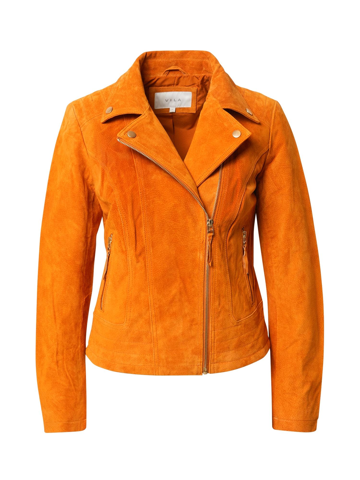 VILA Demisezoninė striukė oranžinė