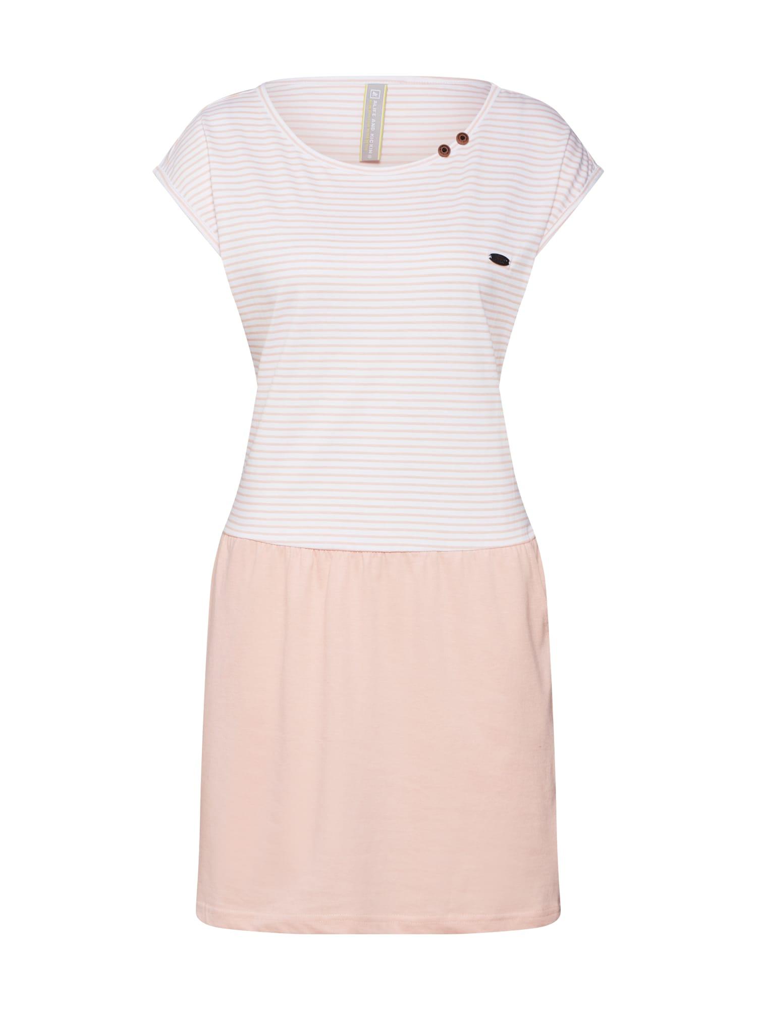 Šaty SHANNA krémová růžová Alife And Kickin