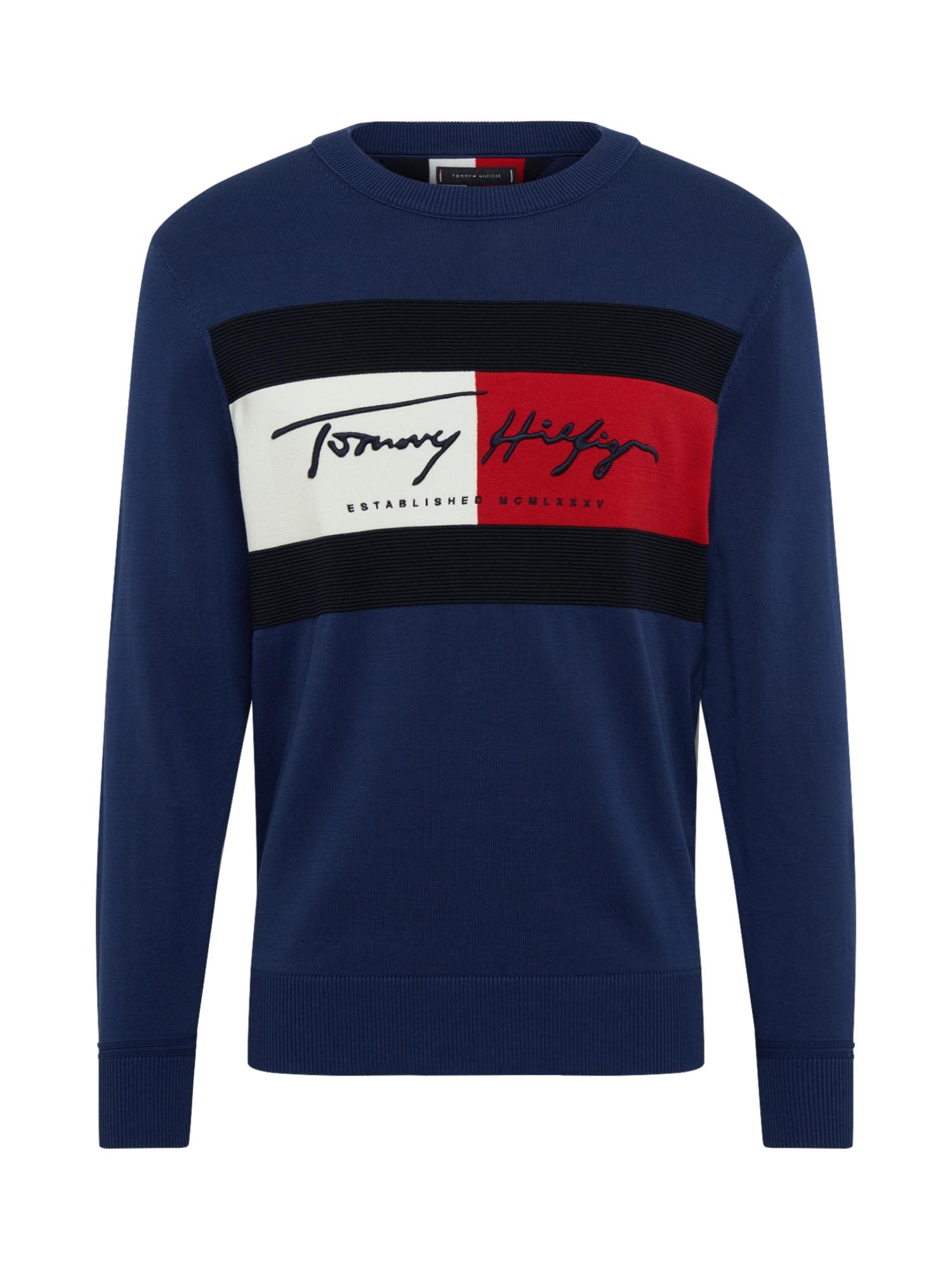 TOMMY HILFIGER Mikina  modré / čierna / červené / biela