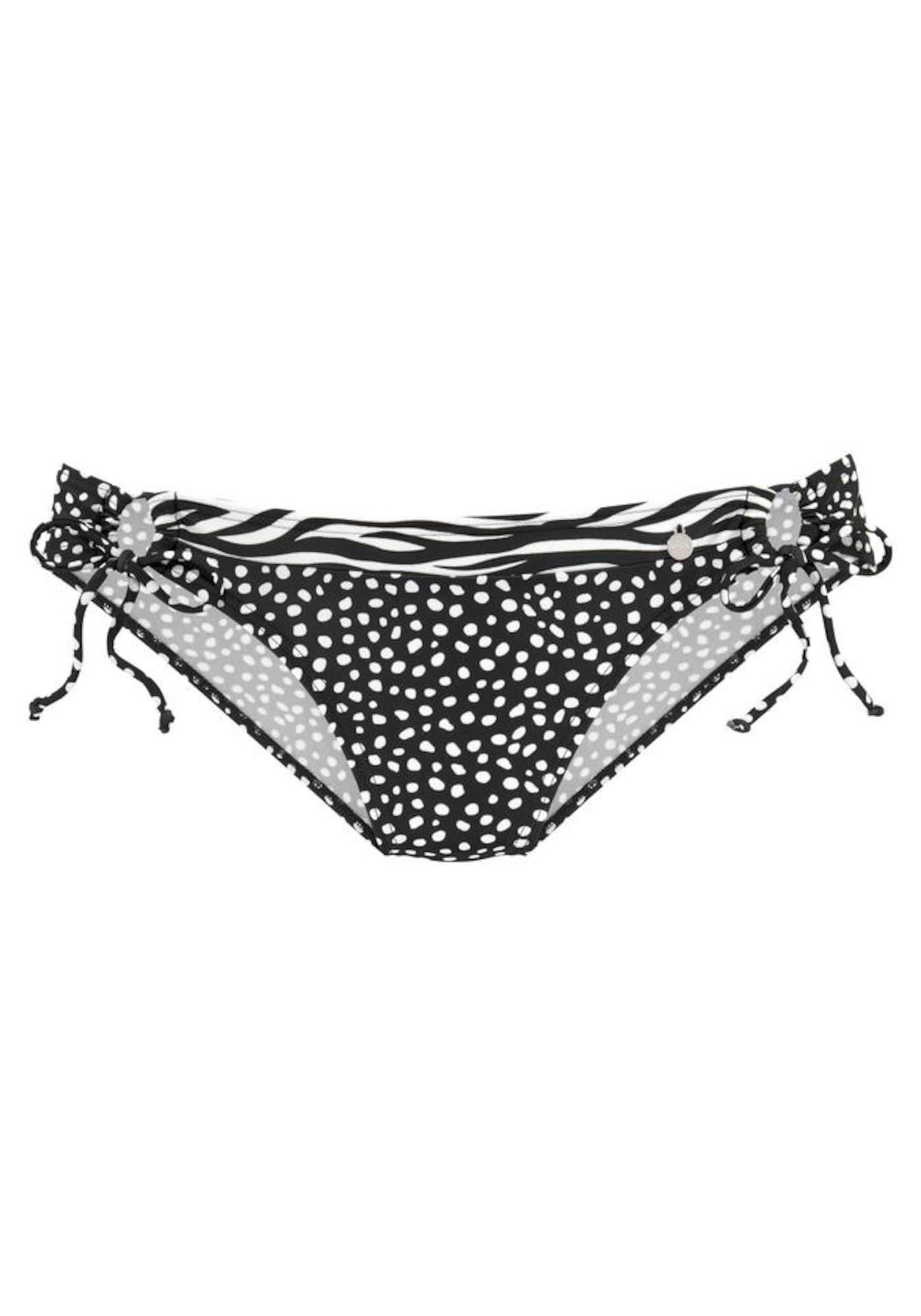 LASCANA Bikinio kelnaitės juoda / balta