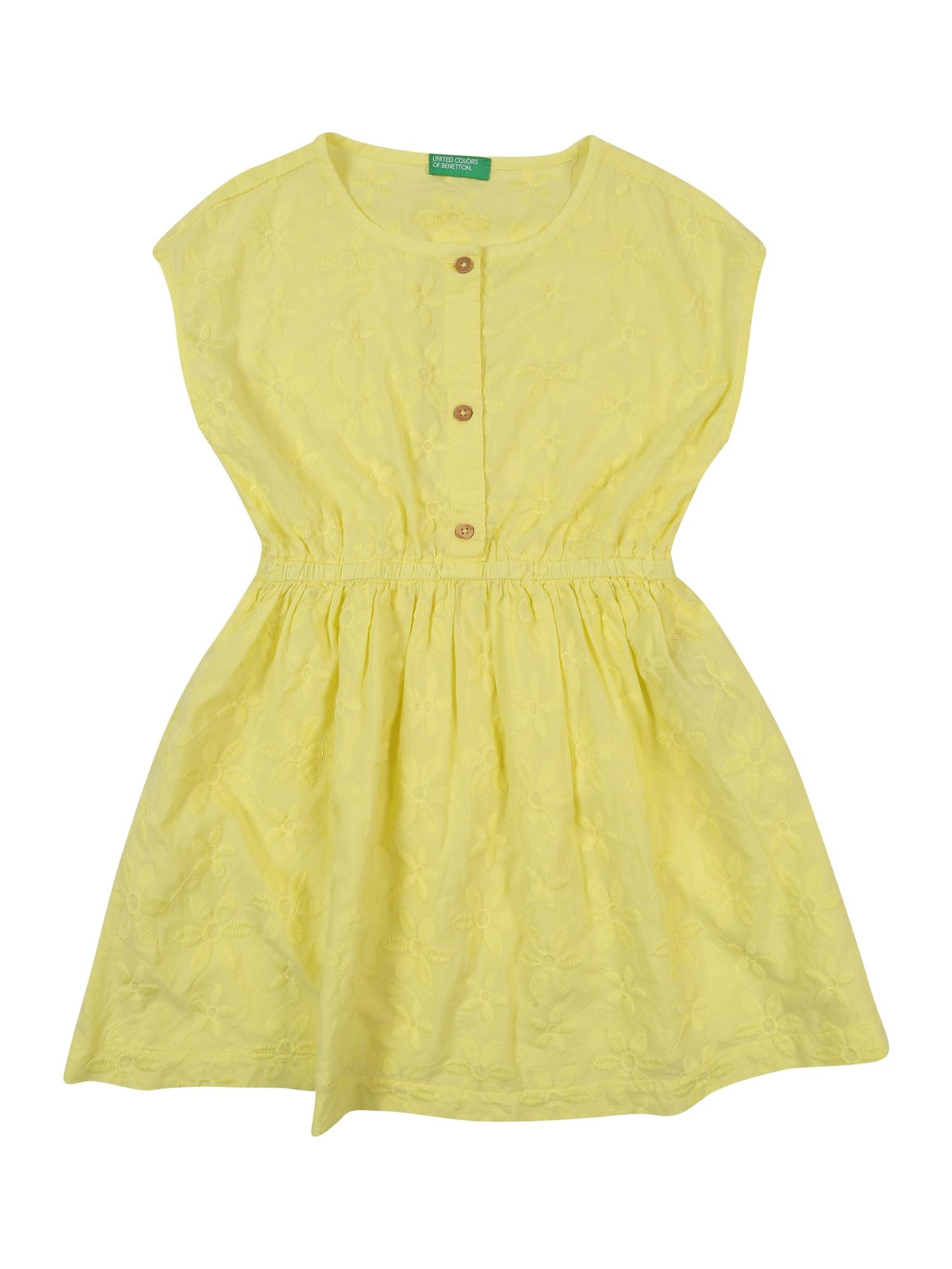 UNITED COLORS OF BENETTON Suknelė geltona