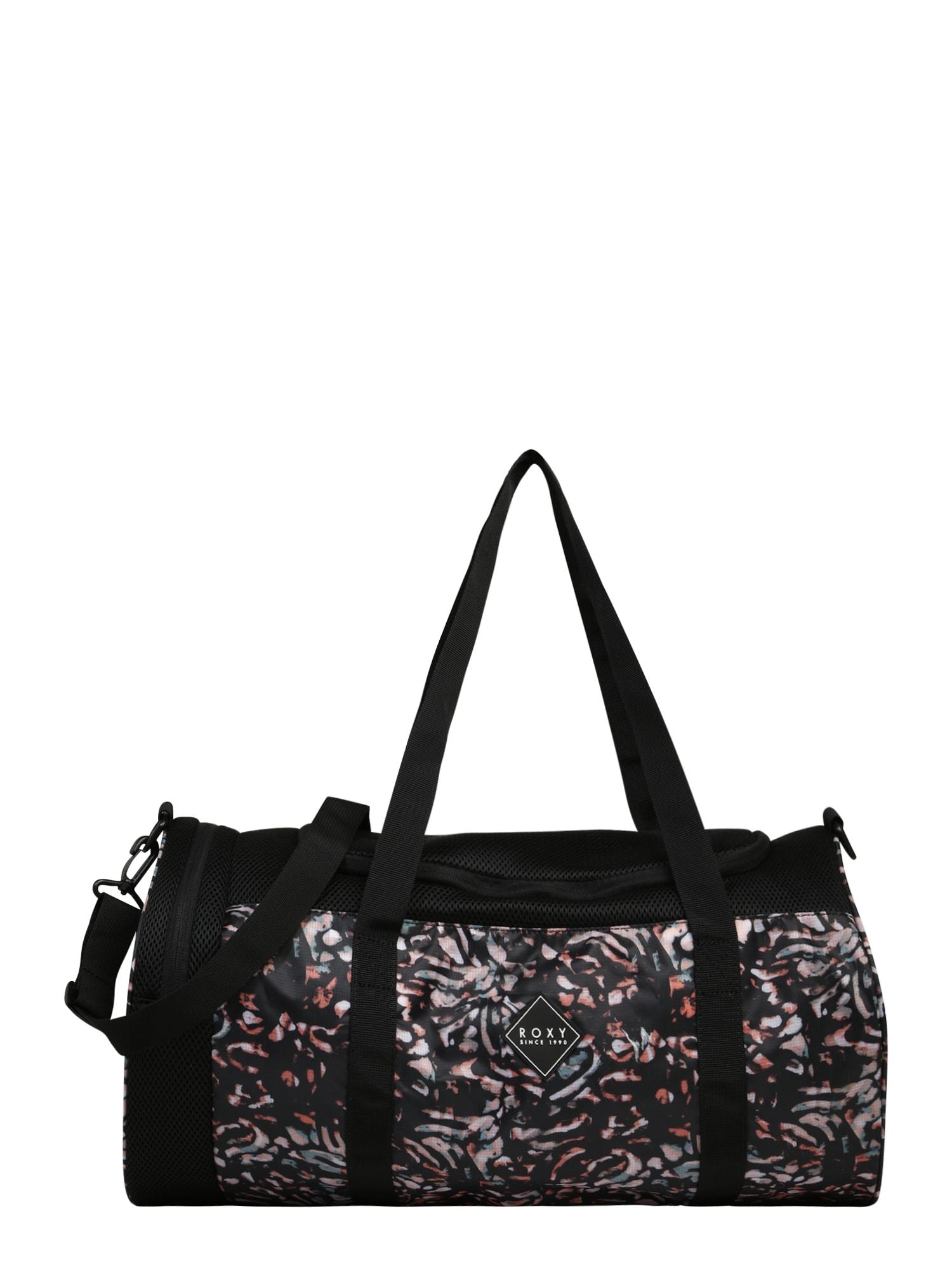 ROXY Sportovní taška 'Celestial World'  černá / růže / béžová / opálová / bílá