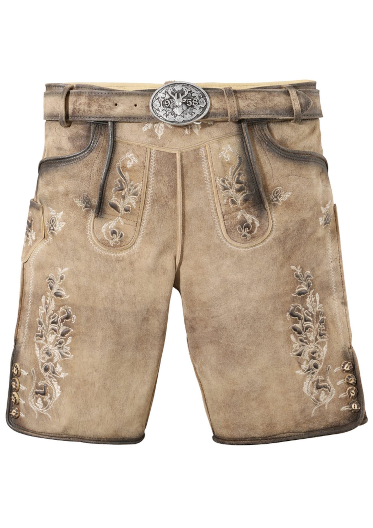 Trachtenlederhosekurz | Bekleidung > Hosen > Lederhosen | Krüger Buam