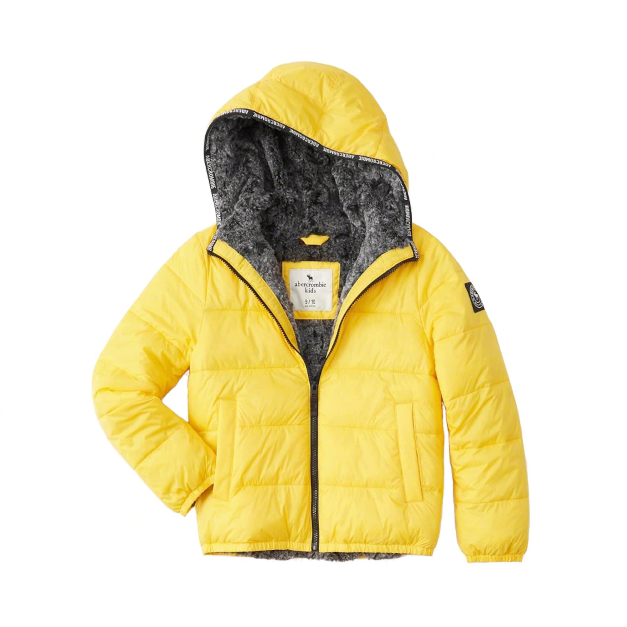 Kinder,  Jungen Abercrombie & Fitch Winterjacke COZY PUFFER gelb   04061413790342