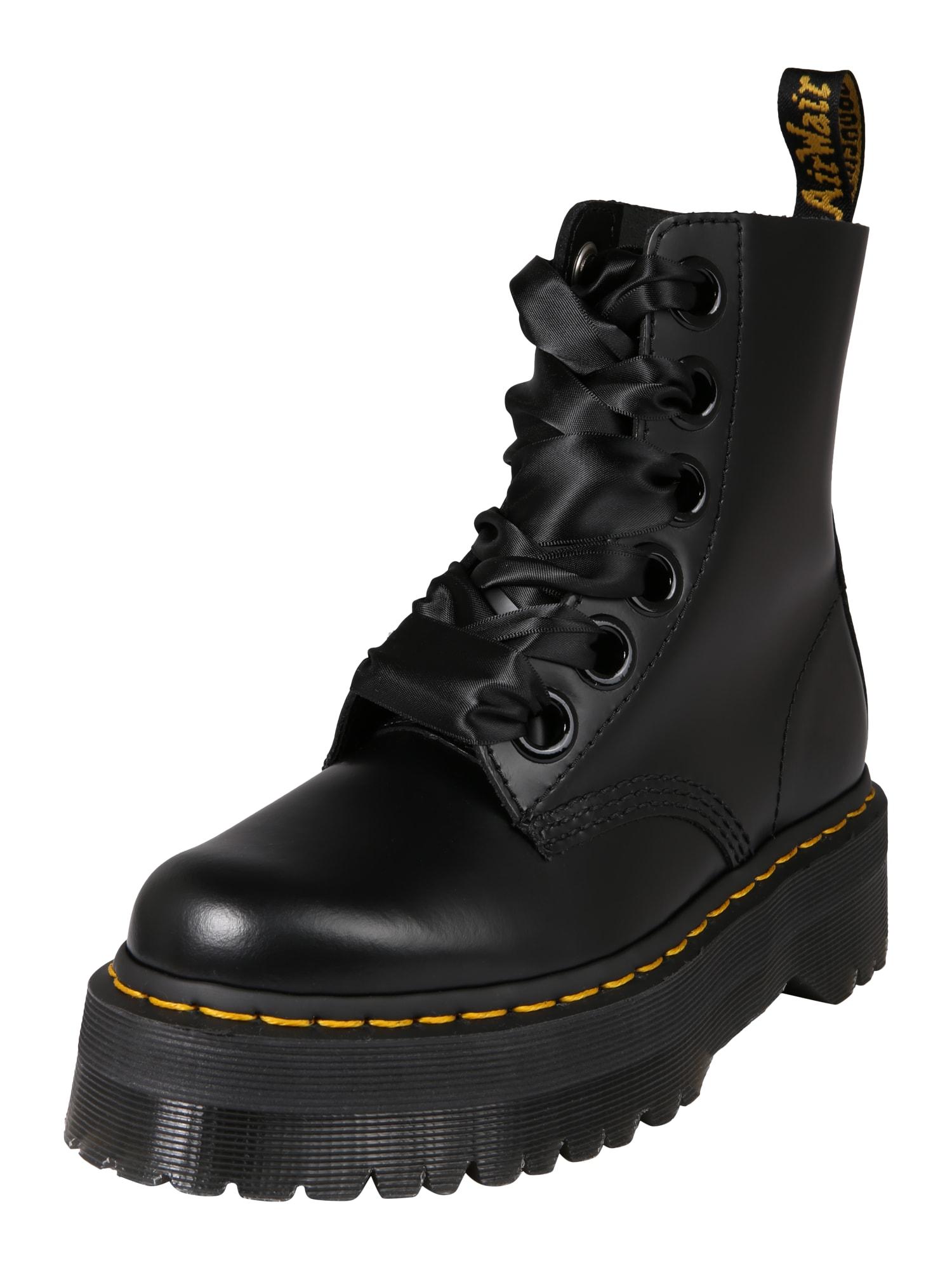 Šněrovací boty 6 Eye Lolita Boot Molly černá Dr. Martens