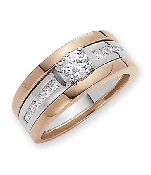 Schmucksets für Frauen - FIRETTI Schmuckset Ringset mit Zirkonia (3tlg.) rosegold silber  - Onlineshop ABOUT YOU