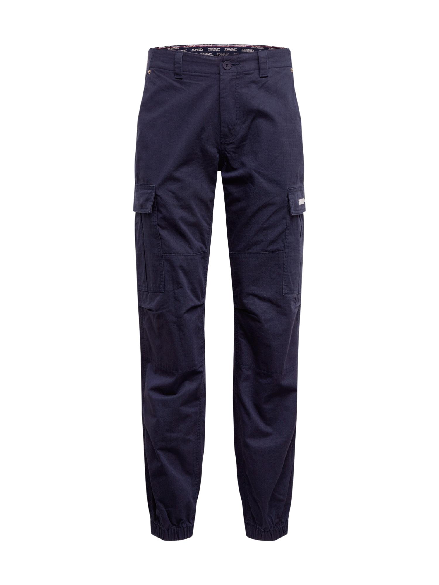 Tommy Jeans Laisvo stiliaus kelnės 'TJM CARGO JOG PANT' tamsiai mėlyna