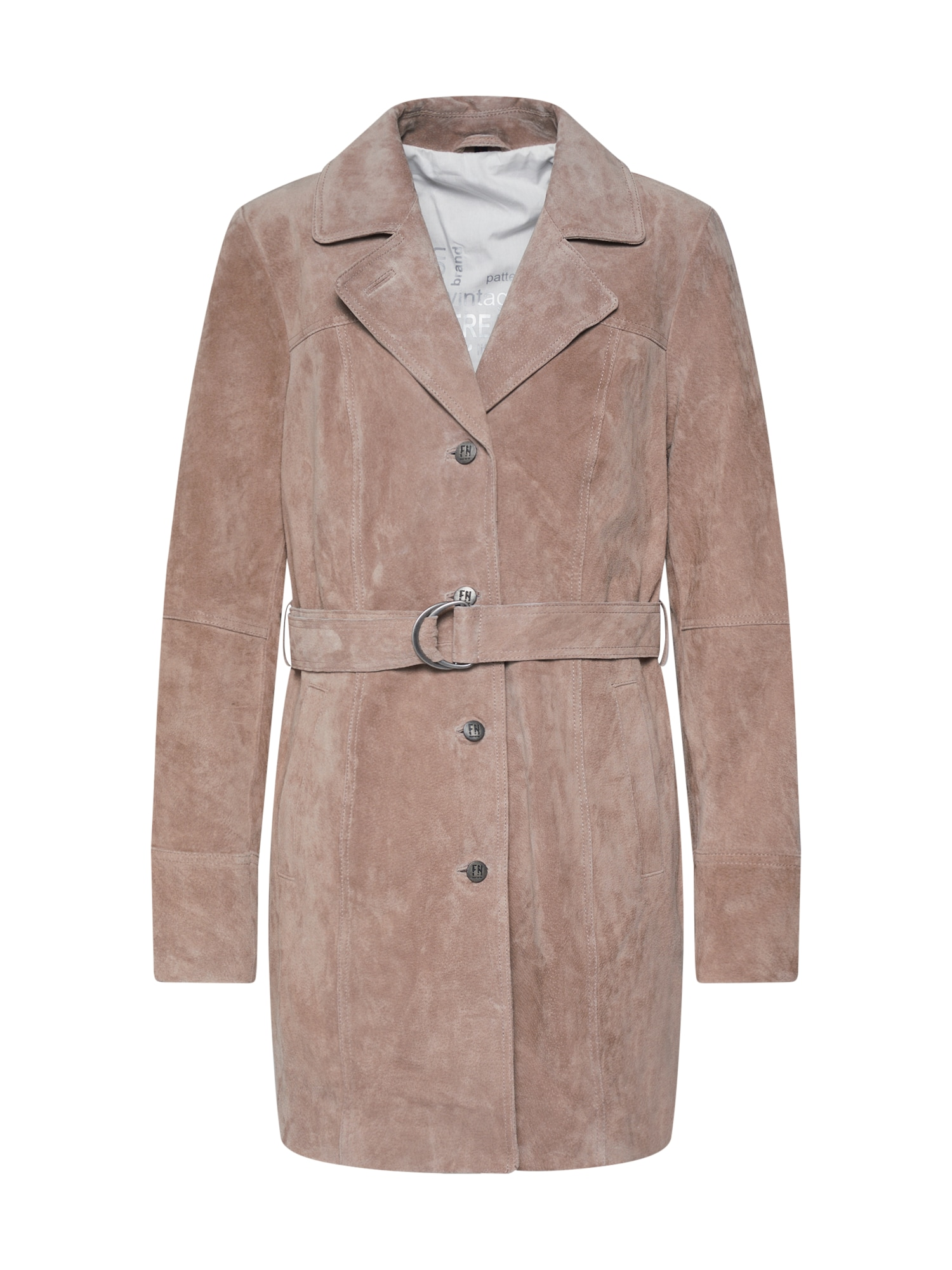 FREAKY NATION Rudeninis-žieminis paltas 'Annouk' gelsvai pilka spalva
