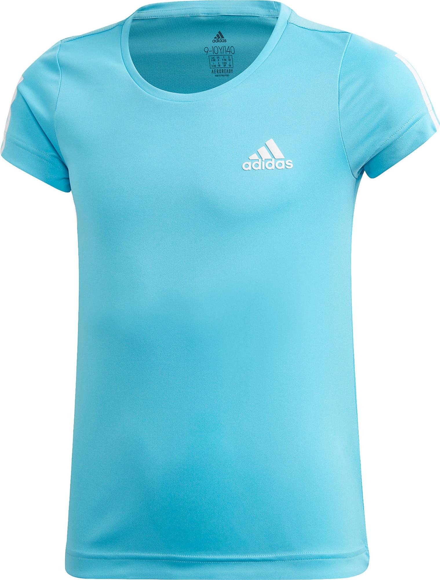 ADIDAS PERFORMANCE Sportiniai marškinėliai šviesiai mėlyna / balta