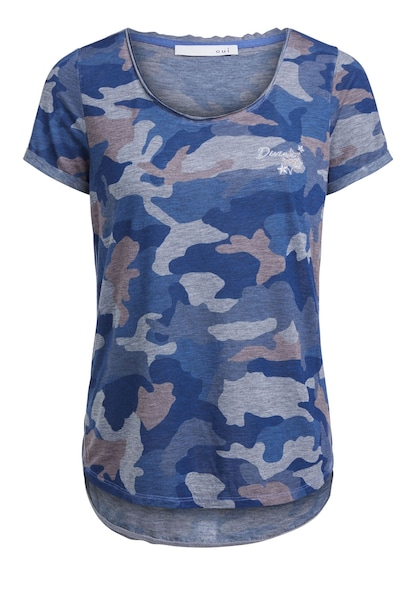 Oberteile - T Shirt › Oui › blau  - Onlineshop ABOUT YOU