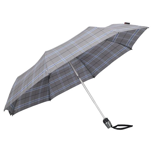 Regenschirme für Frauen - KNIRPS Taschenschirm 'T 200 Medium Duomatic' blau grau weiß  - Onlineshop ABOUT YOU