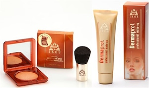 Dermaprof. Make-up & Egyptische Erde Set mit Kabuki-Pinsel