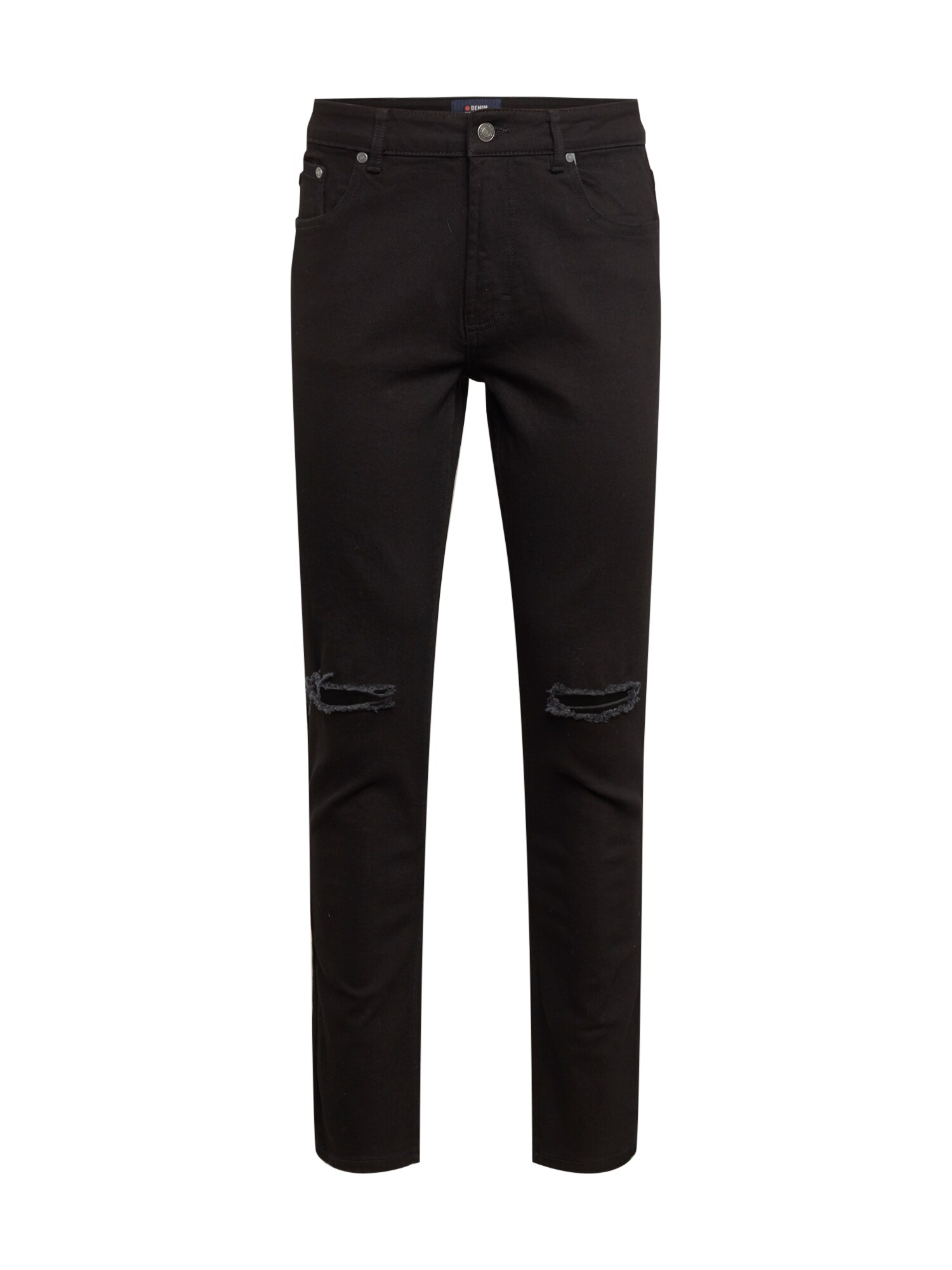 Denim Project Džinsai 'Mr Red Knee Cut' juodo džinso spalva