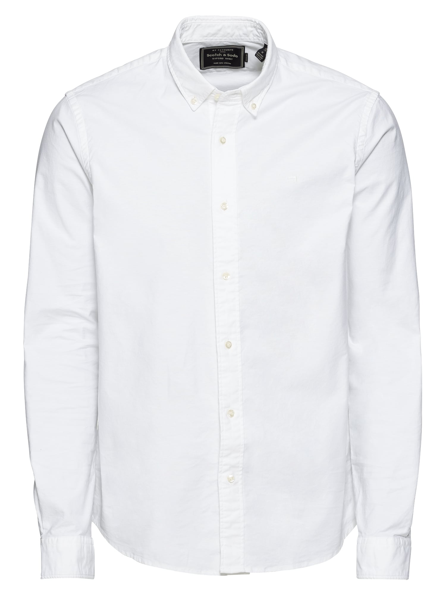 SCOTCH & SODA Cămașă 'NOS Shirt with contrast details'  alb
