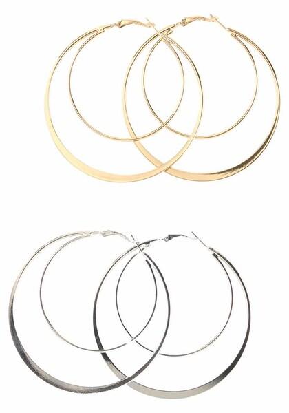 Ohrringe für Frauen - J. Jayz Creolen Set gold silber  - Onlineshop ABOUT YOU