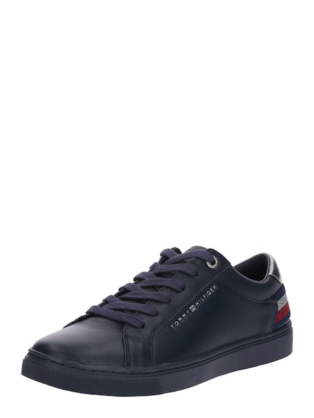 Sneakers für Frauen - TOMMY HILFIGER Sneaker 'Essential' navy rot silber  - Onlineshop ABOUT YOU