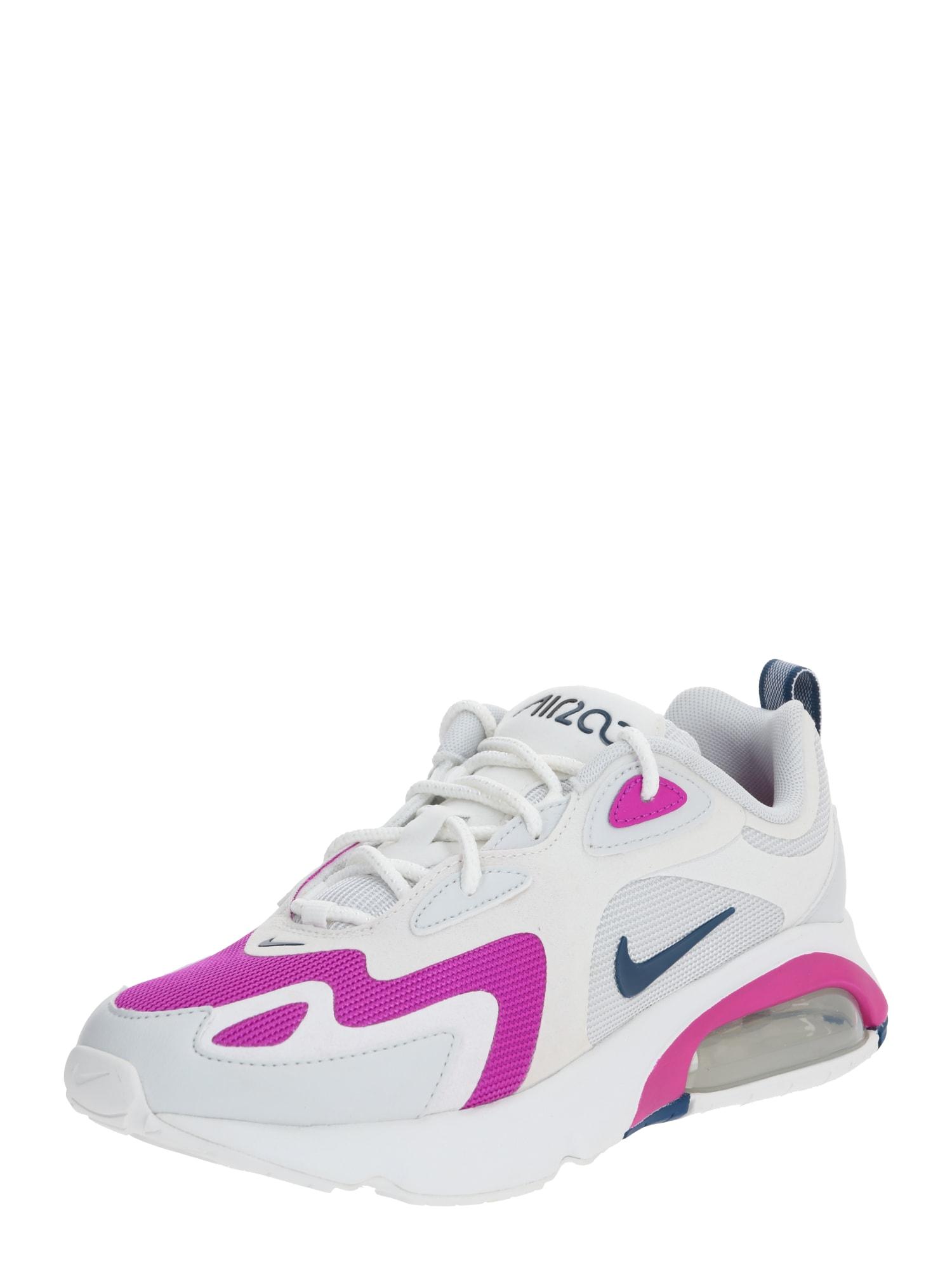 Nike Sportswear Sportbačiai be auliuko 'Nike Air Max 200' benzino spalva / rausvai raudona / balta / tamsiai rožinė