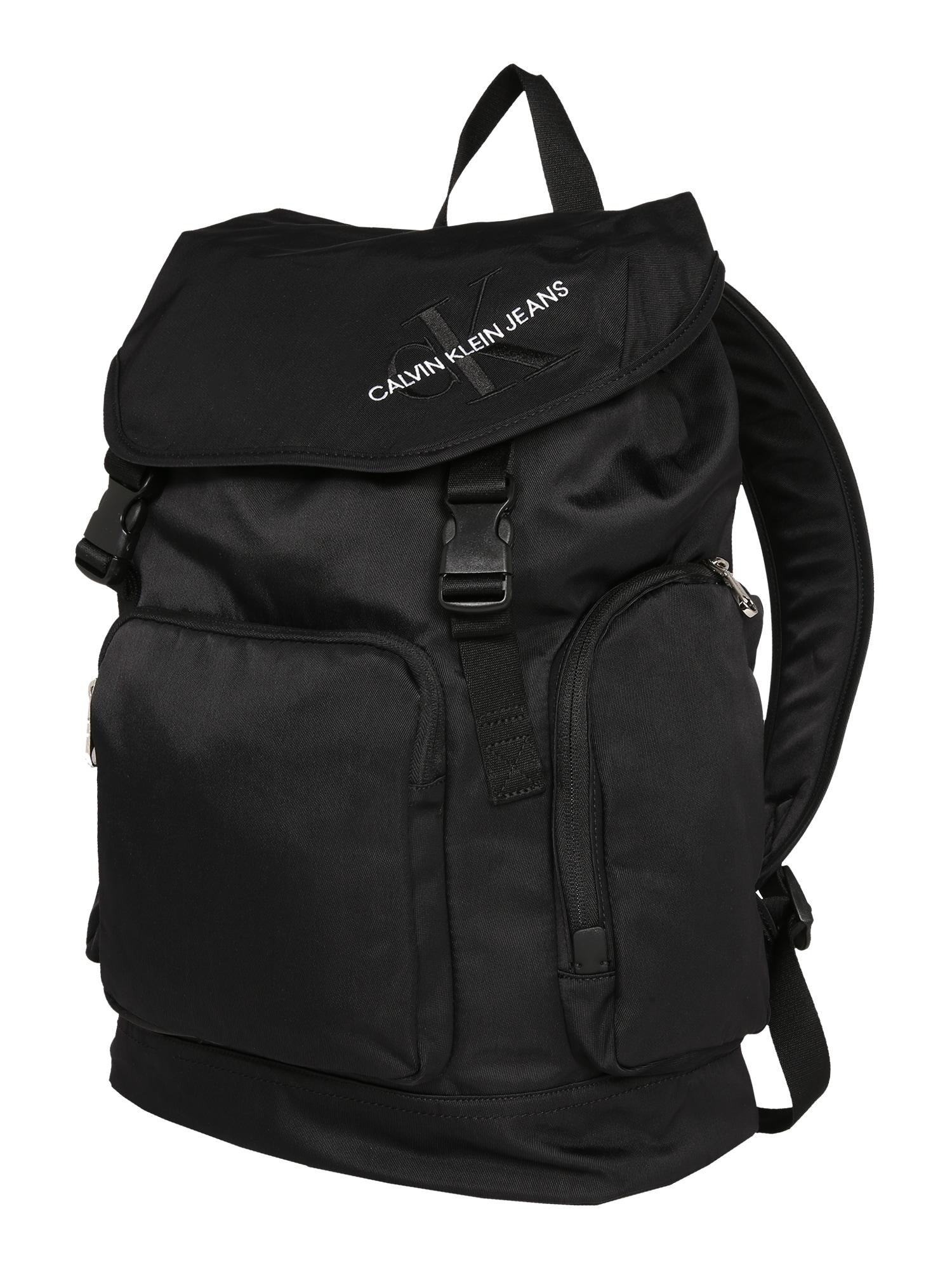 Calvin Klein Jeans Kuprinė 'FLAP BP45' juoda