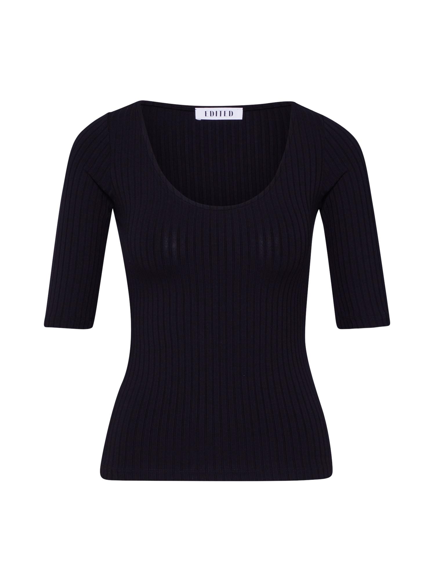 EDITED Marškinėliai 'Fray' juoda