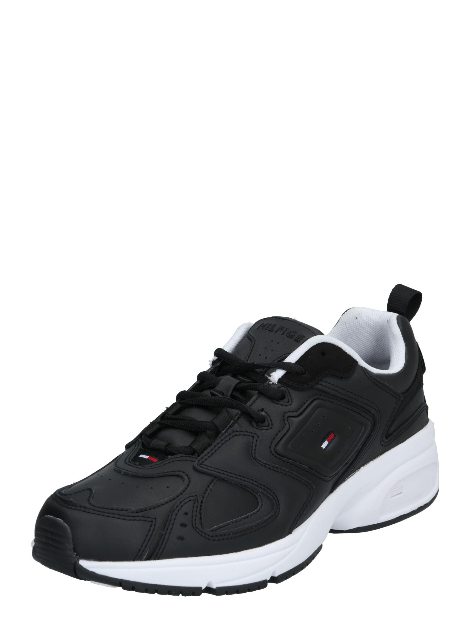 Tommy Jeans Nízke tenisky 'HERITAGE'  čierna / biela