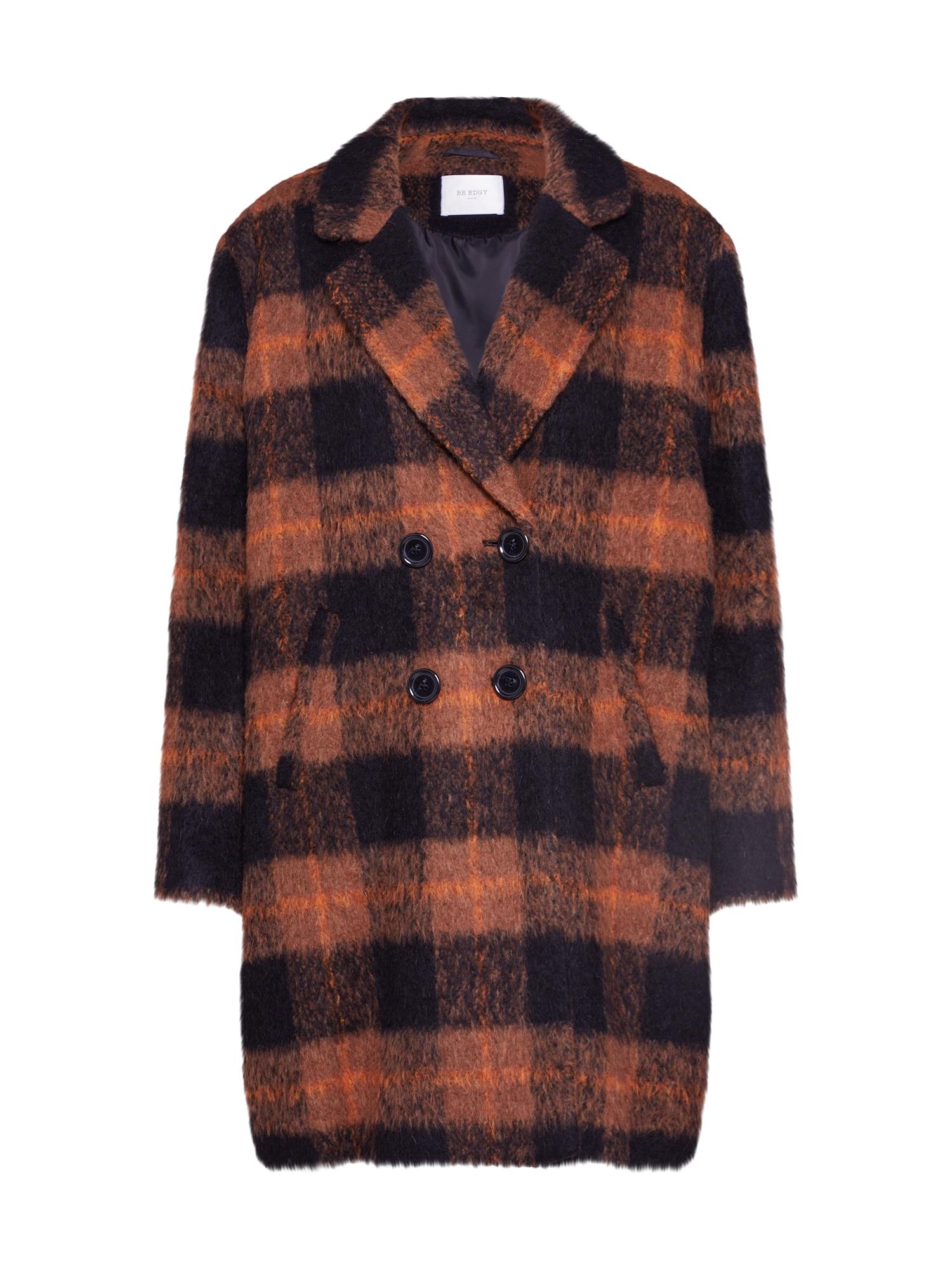 BE EDGY Rudeninis-žieminis paltas 'Beanuba' ruda / juoda