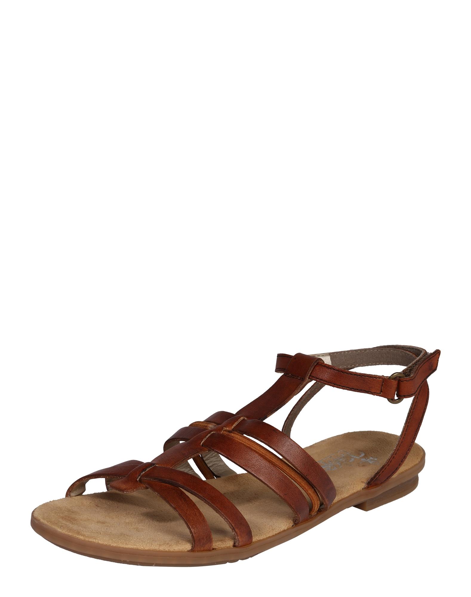 Páskové sandály hnědá RIEKER