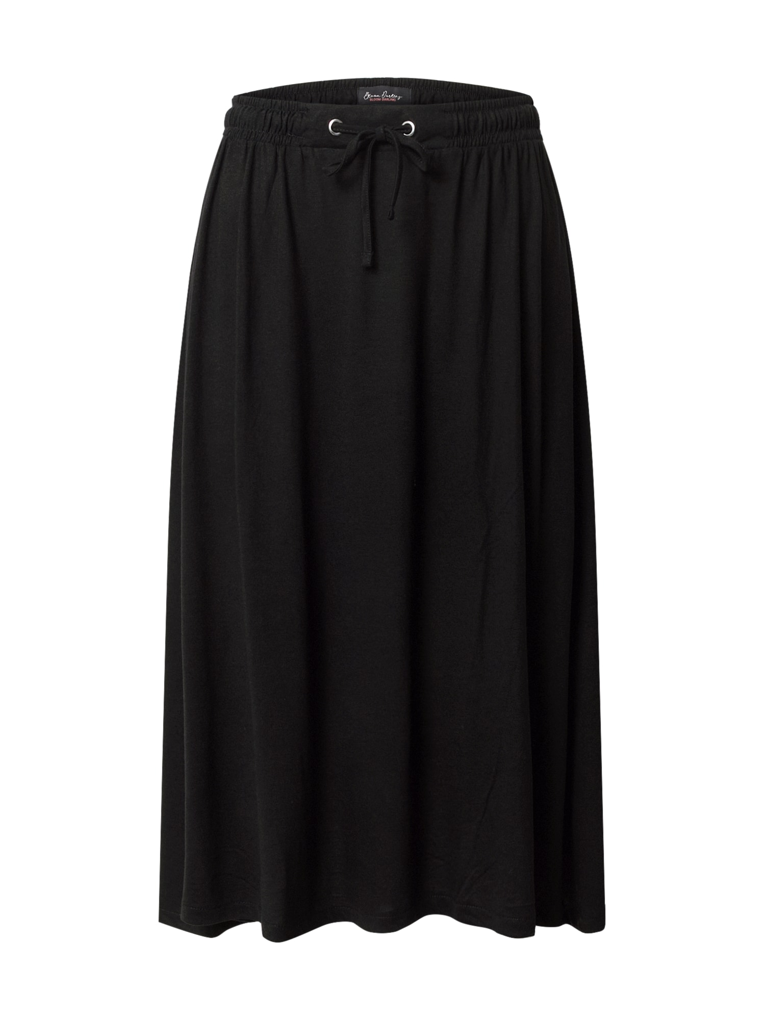 STREET ONE Sukňa 'EOS_solid_Midi skirt UNI'  čierna