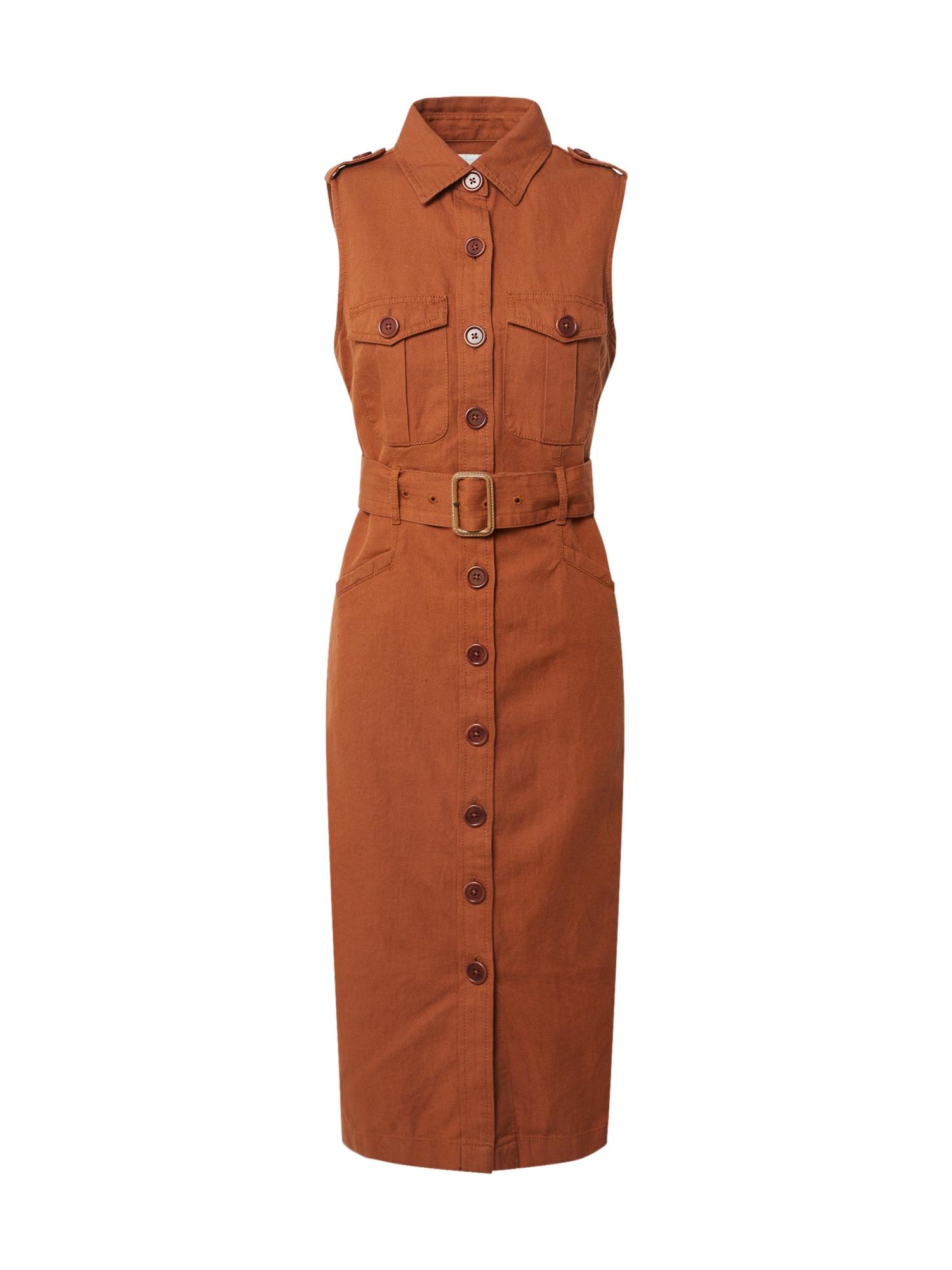 Banana Republic Palaidinės tipo suknelė ruda (konjako)