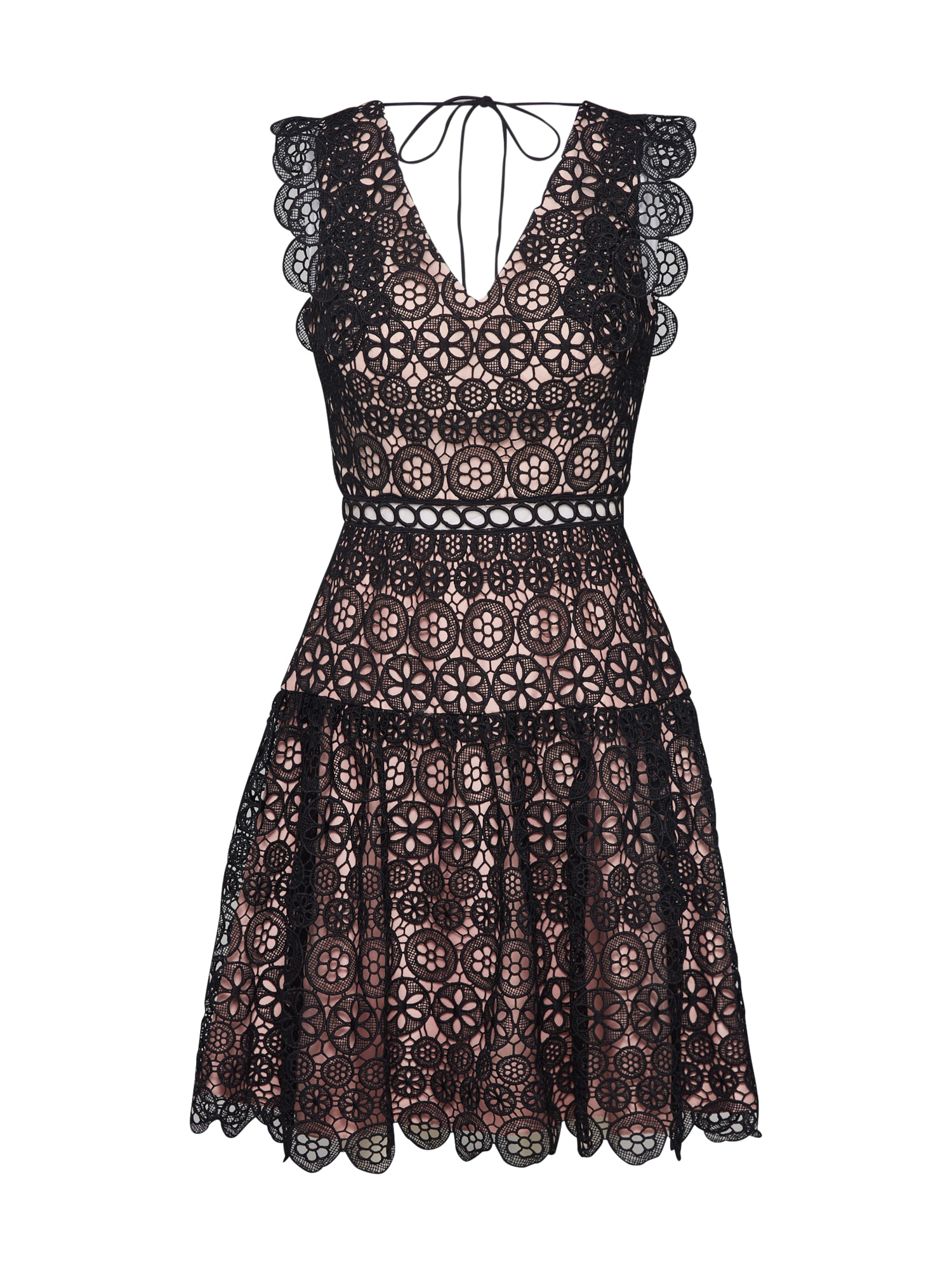 Laona Kokteilinė suknelė rožių spalva / juoda