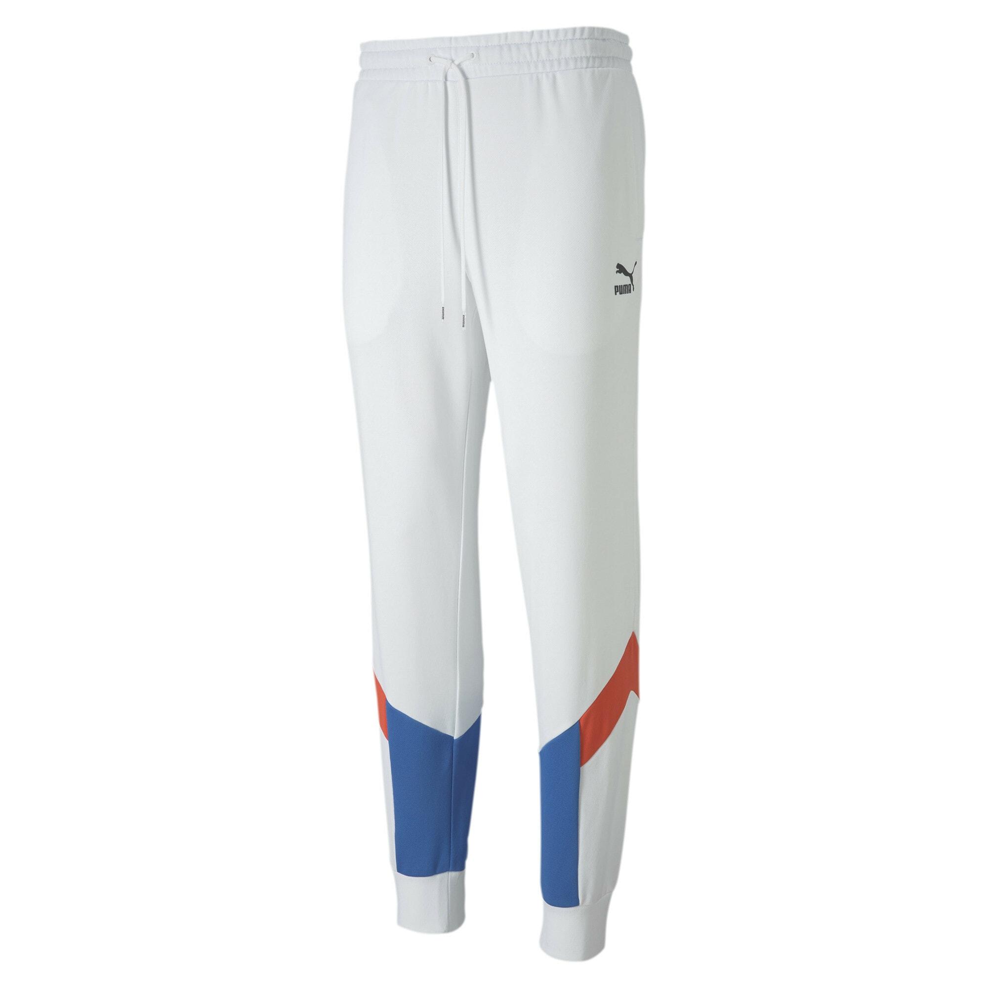 PUMA Sportinės kelnės mėlyna / balta / raudona