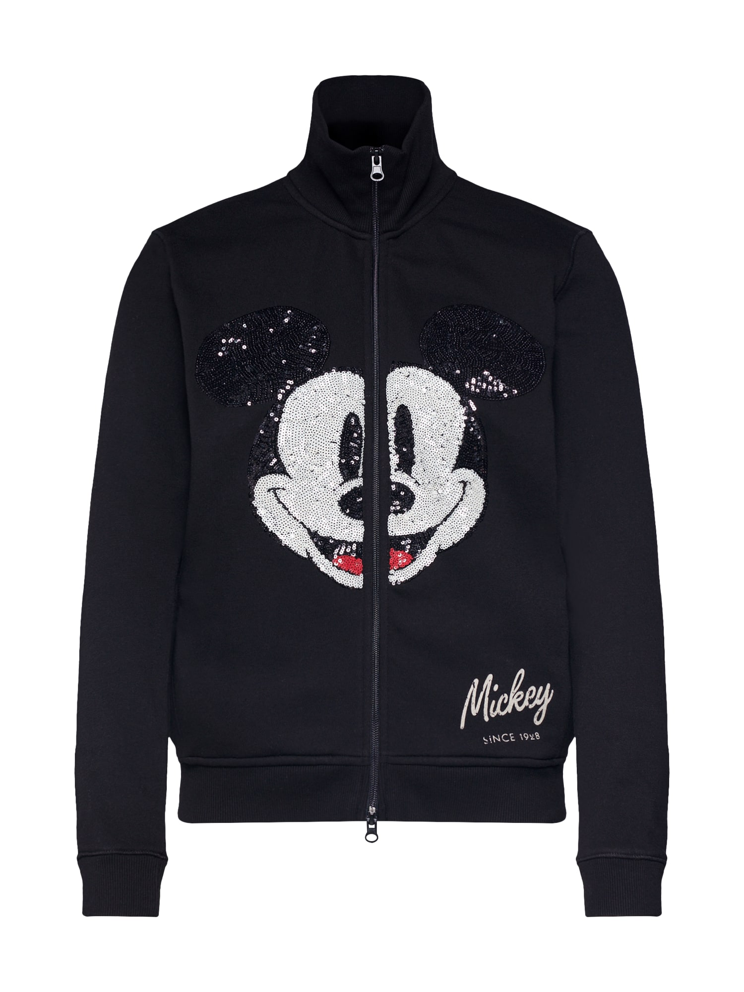Mikina s kapucí Mickey deco face černá PRINCESS GOES HOLLYWOOD