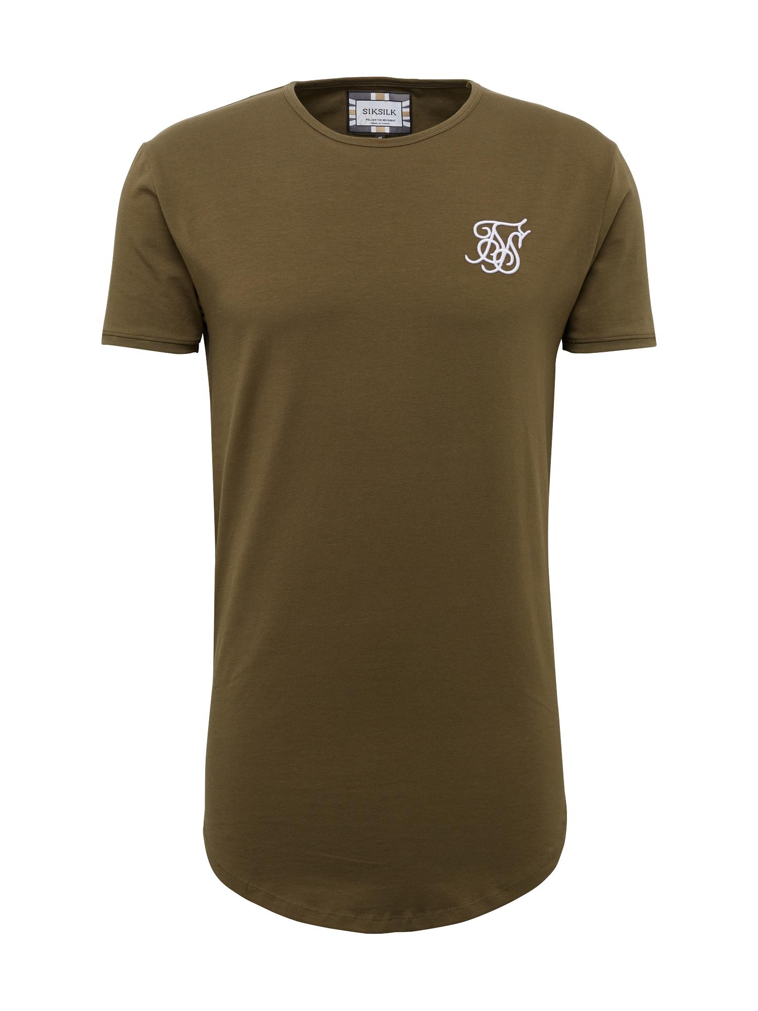 Tričko Gym Tee khaki SikSilk