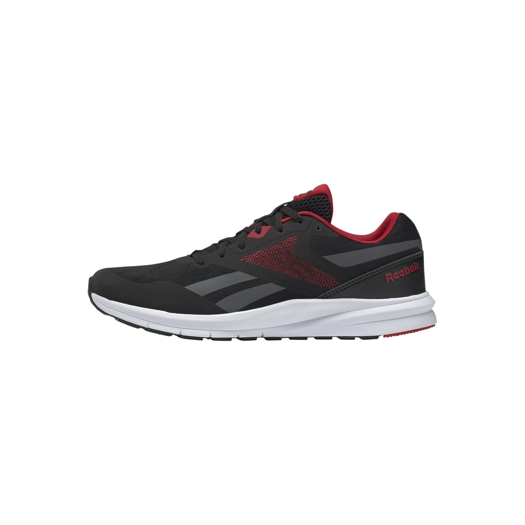 REEBOK Bėgimo batai balta / pilka / raudona / juoda