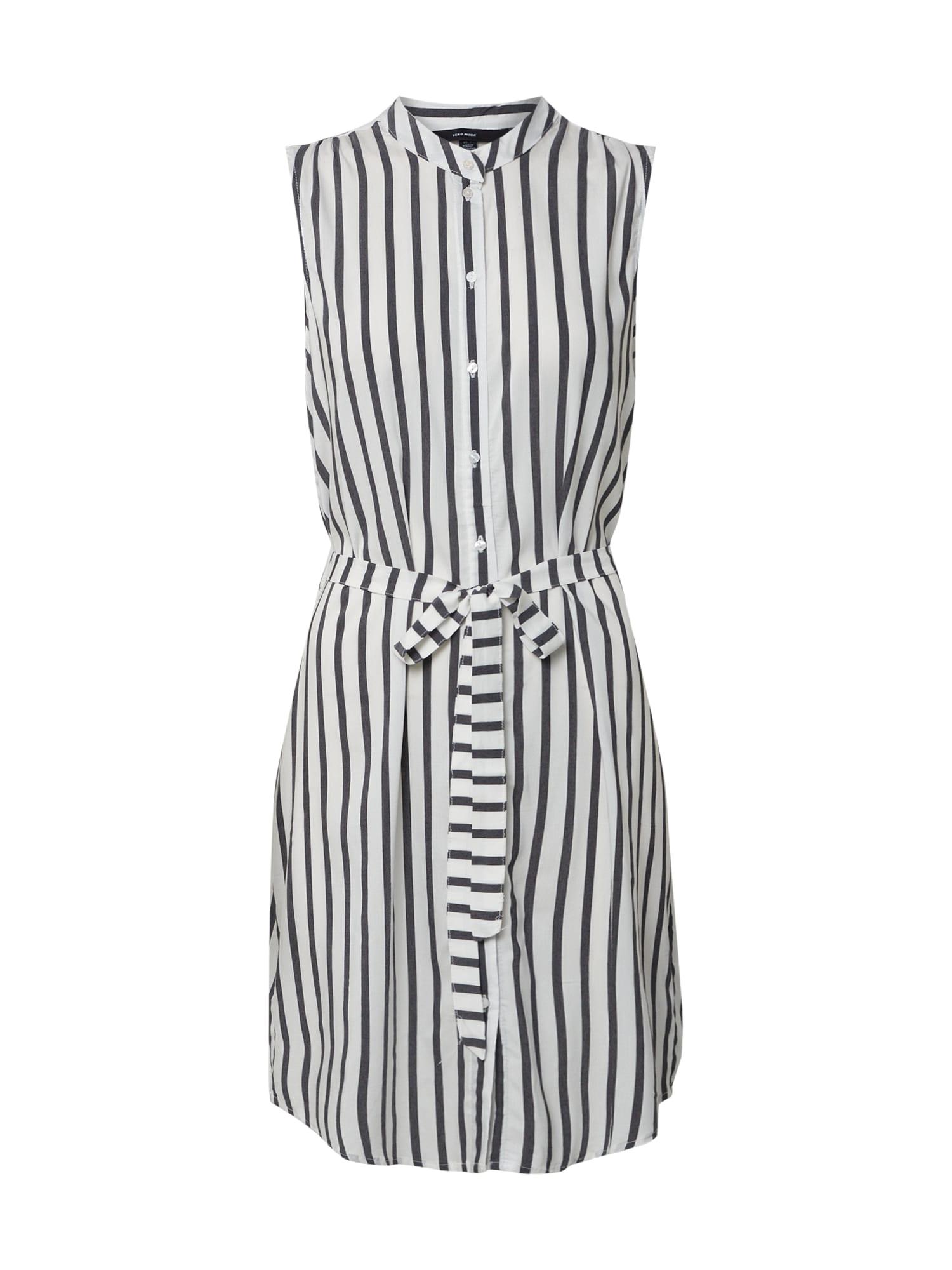 VERO MODA Šaty 'VMERIKA SHIRT DRESS NOOS'  čierna / biela