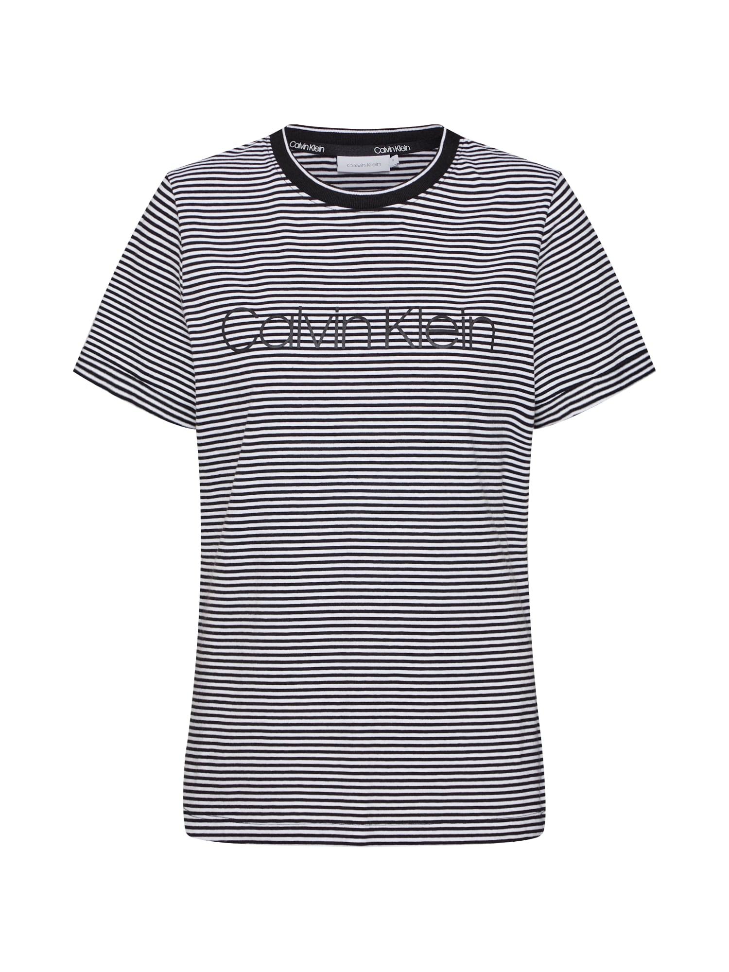 Calvin Klein Marškinėliai balta / juoda